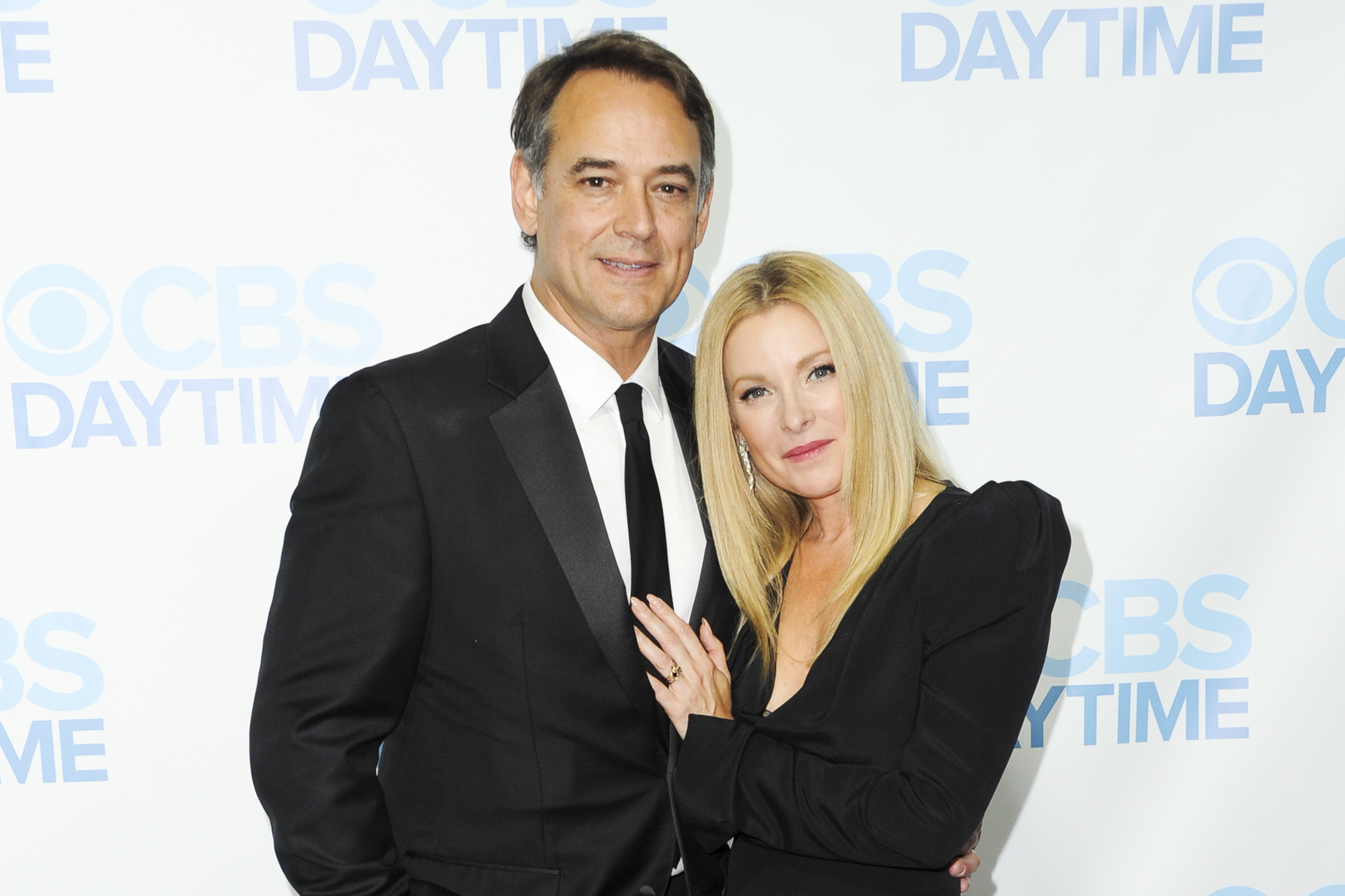 Jon Lindstrom (L) and wife Cady McClain