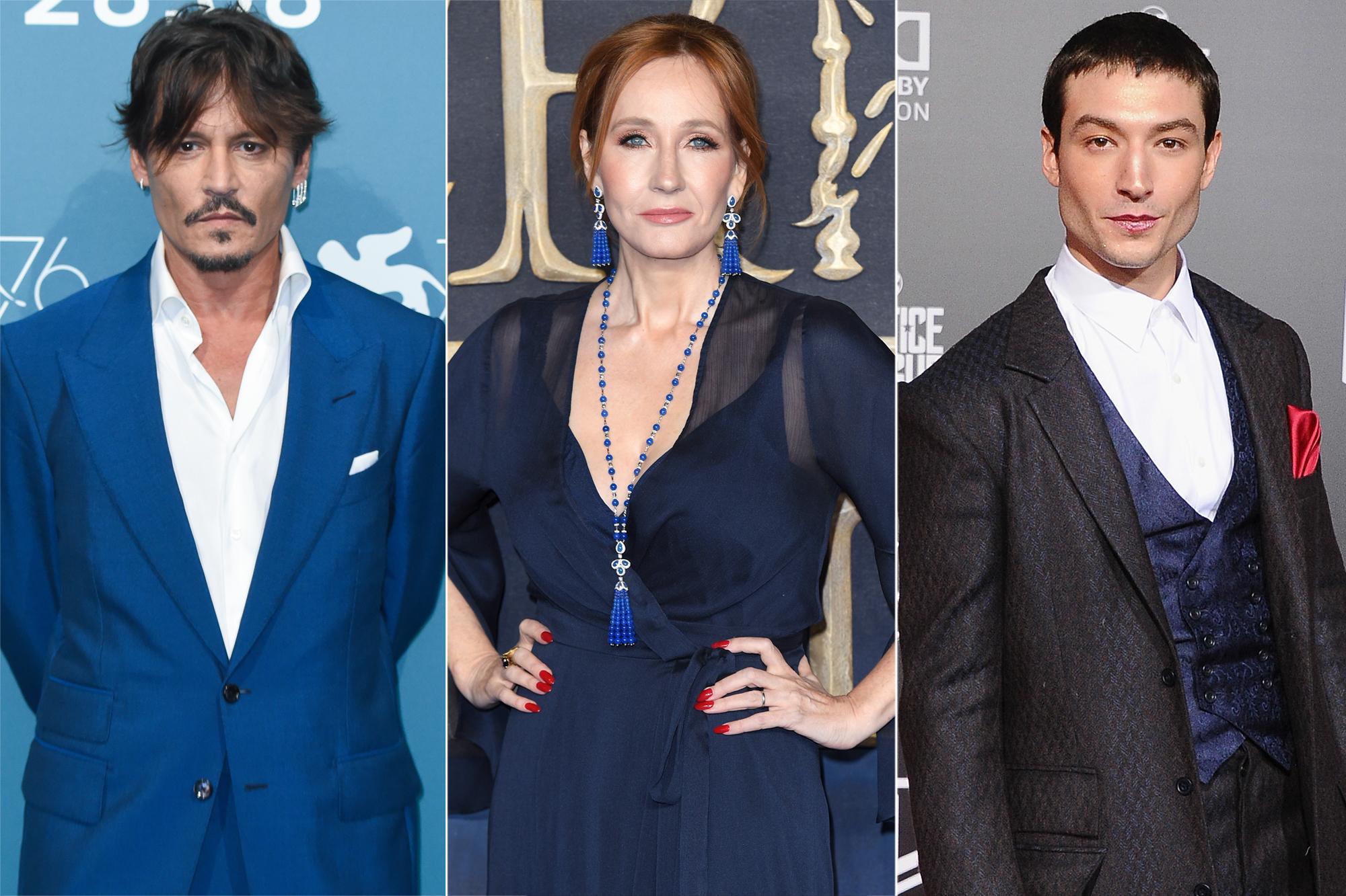 Johnny Depp, JK Rowling, Ezra-Miller