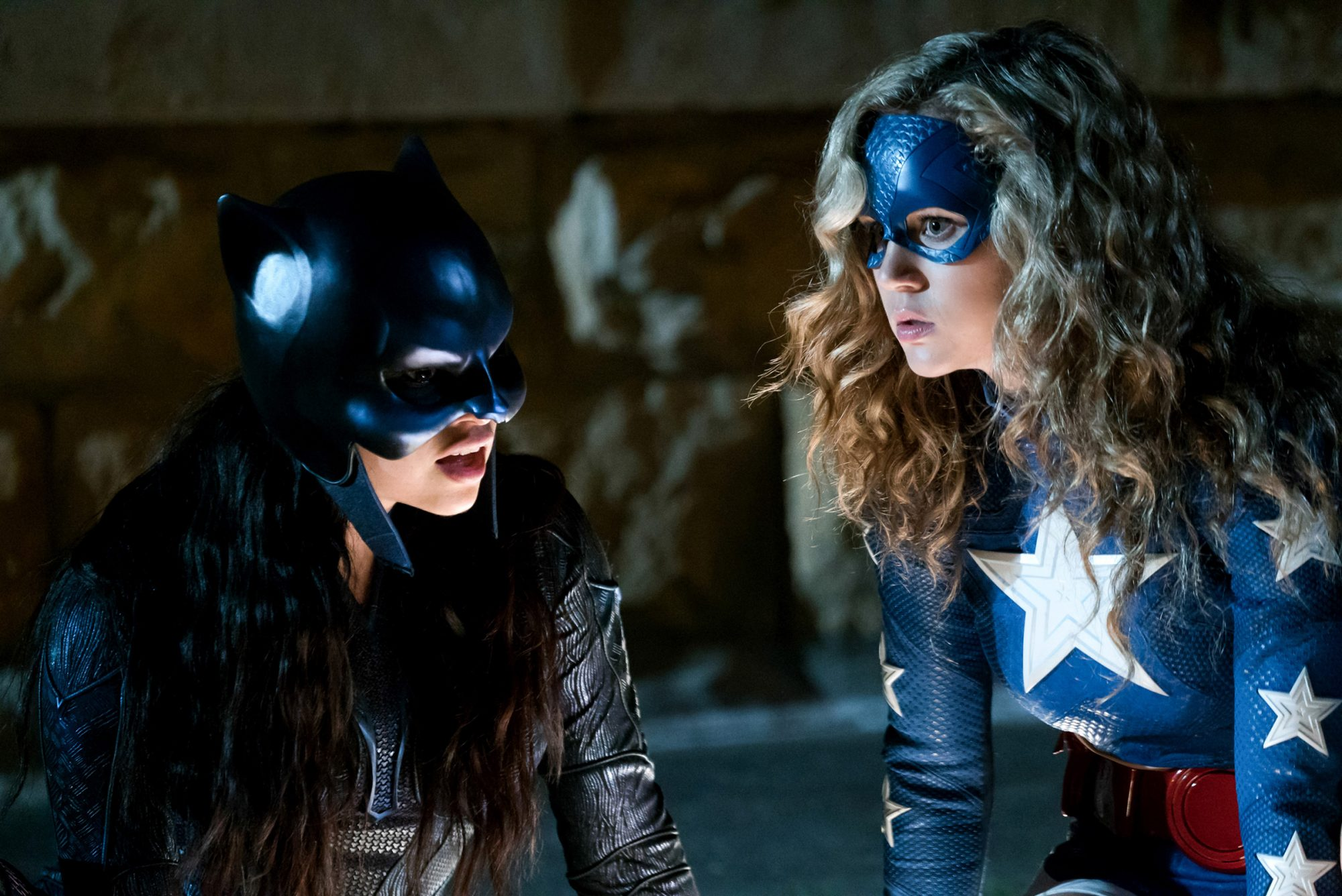 "Stargirl -- ""Wildcat"" -- Pictured (L-R):Yvette Monreal as Wildcat and Brec Bassinger as Stargirl"