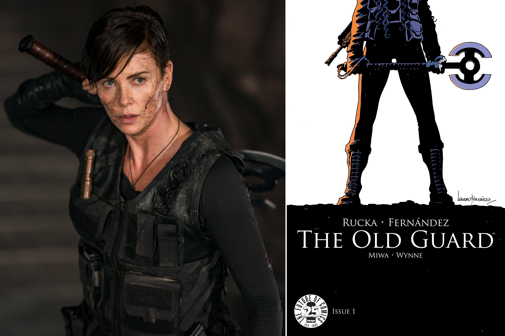 See how Netflix's The Old Guard went from comic to movie in ...