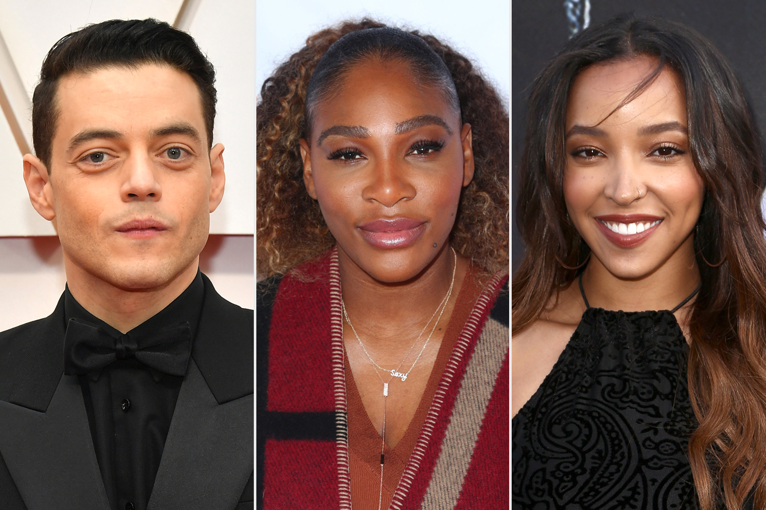 Rami Malek; Serena Williams; Tinashe