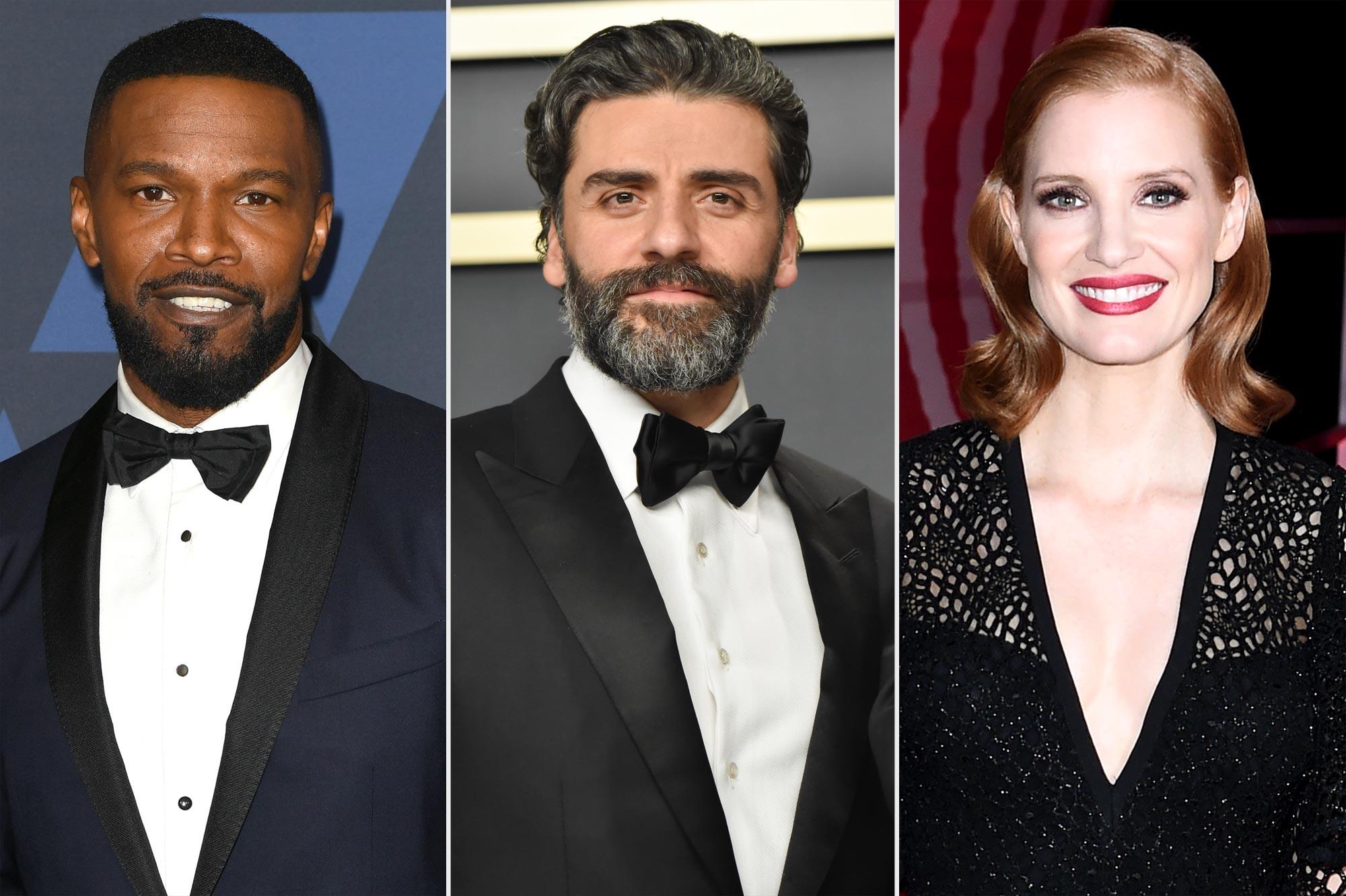 Jamie Foxx; Oscar Isaac; Jessica Chastain