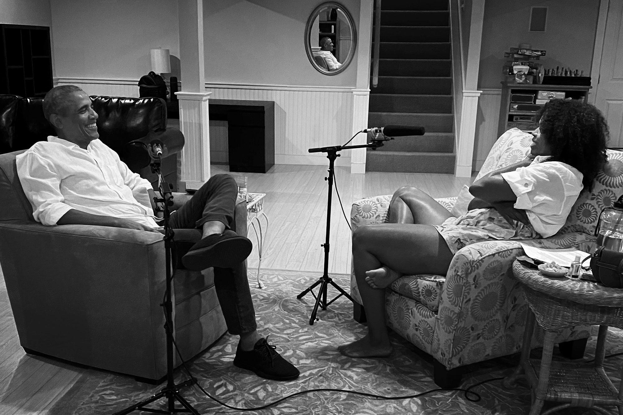 Michelle Obama podcast with Barack Obama
