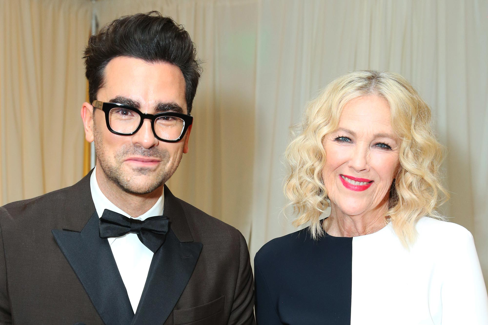 Daniel Levy (L) and Catherine O'Hara