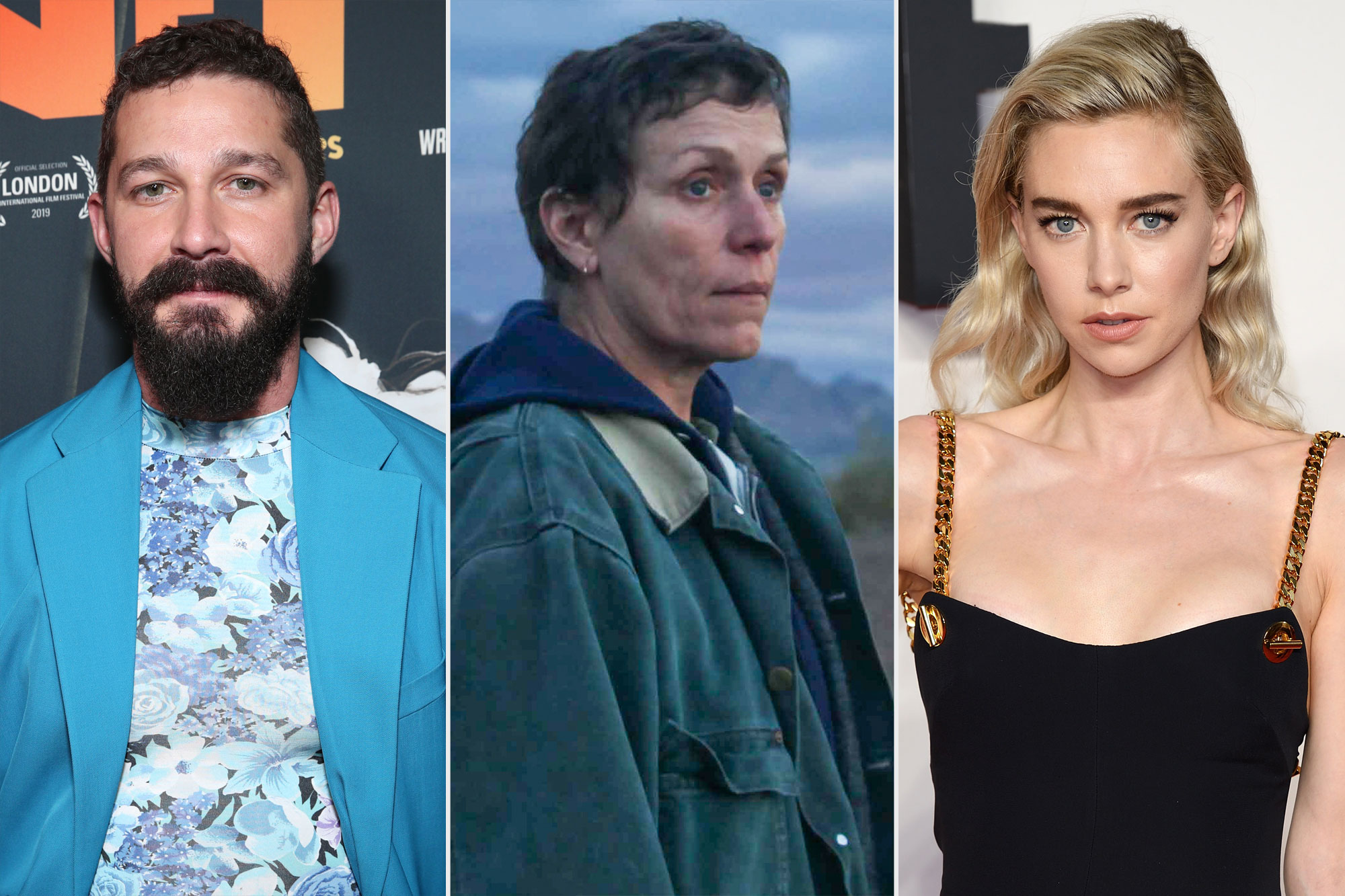 Shia LaBeouf / Frances McDormand in Nomadland / Vanessa Kirby