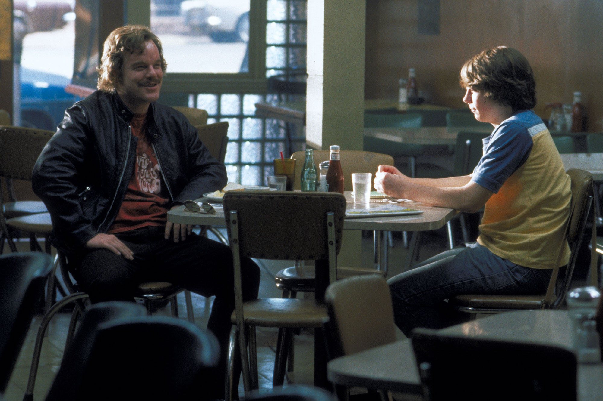 Almost Famous Philip Seymour Hoffman and Patrick Fugit