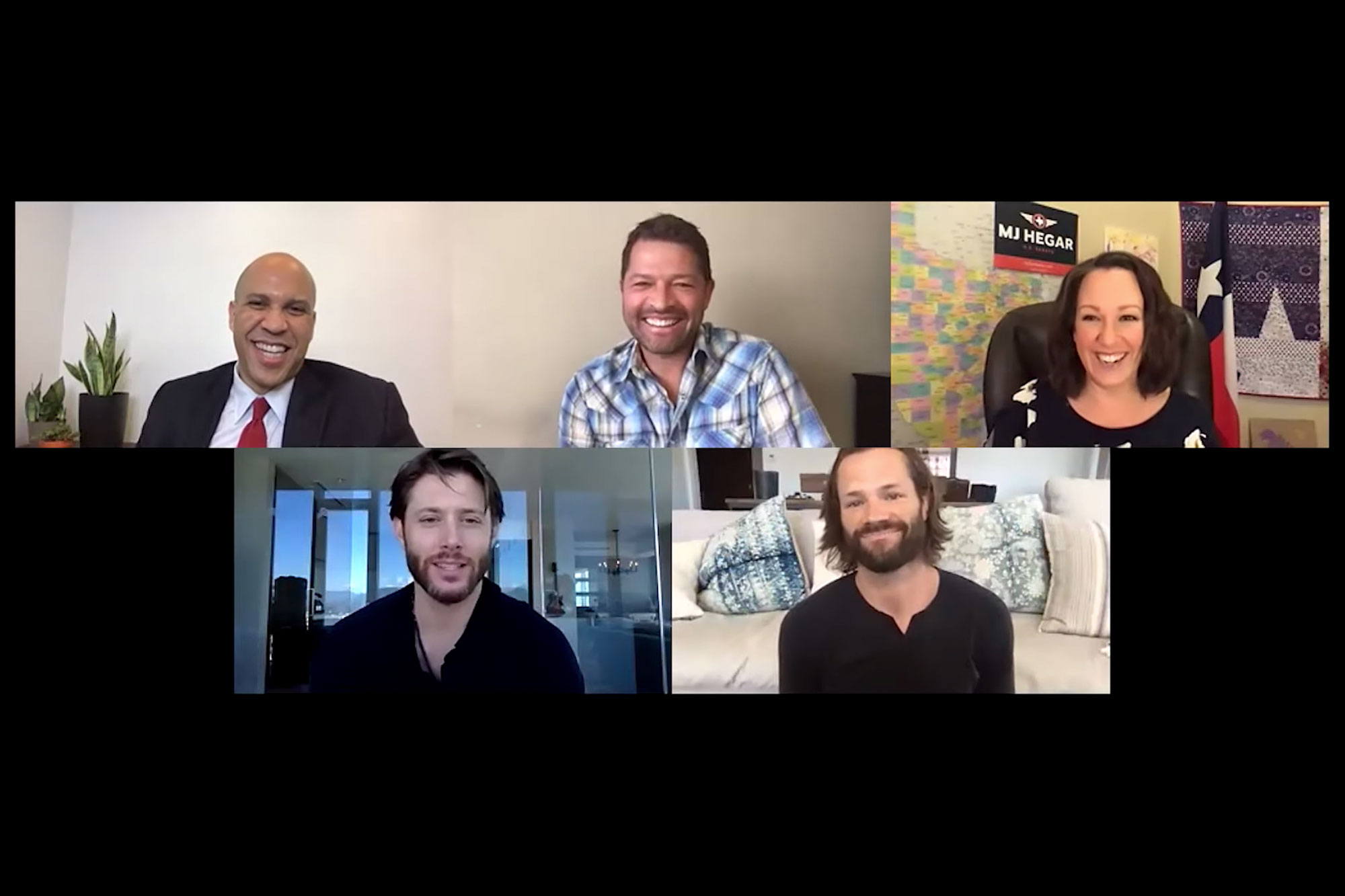 A Conversation with Sen. Cory Booker, Jared Padalecki, Jensen Ackles, & MJ Hegar