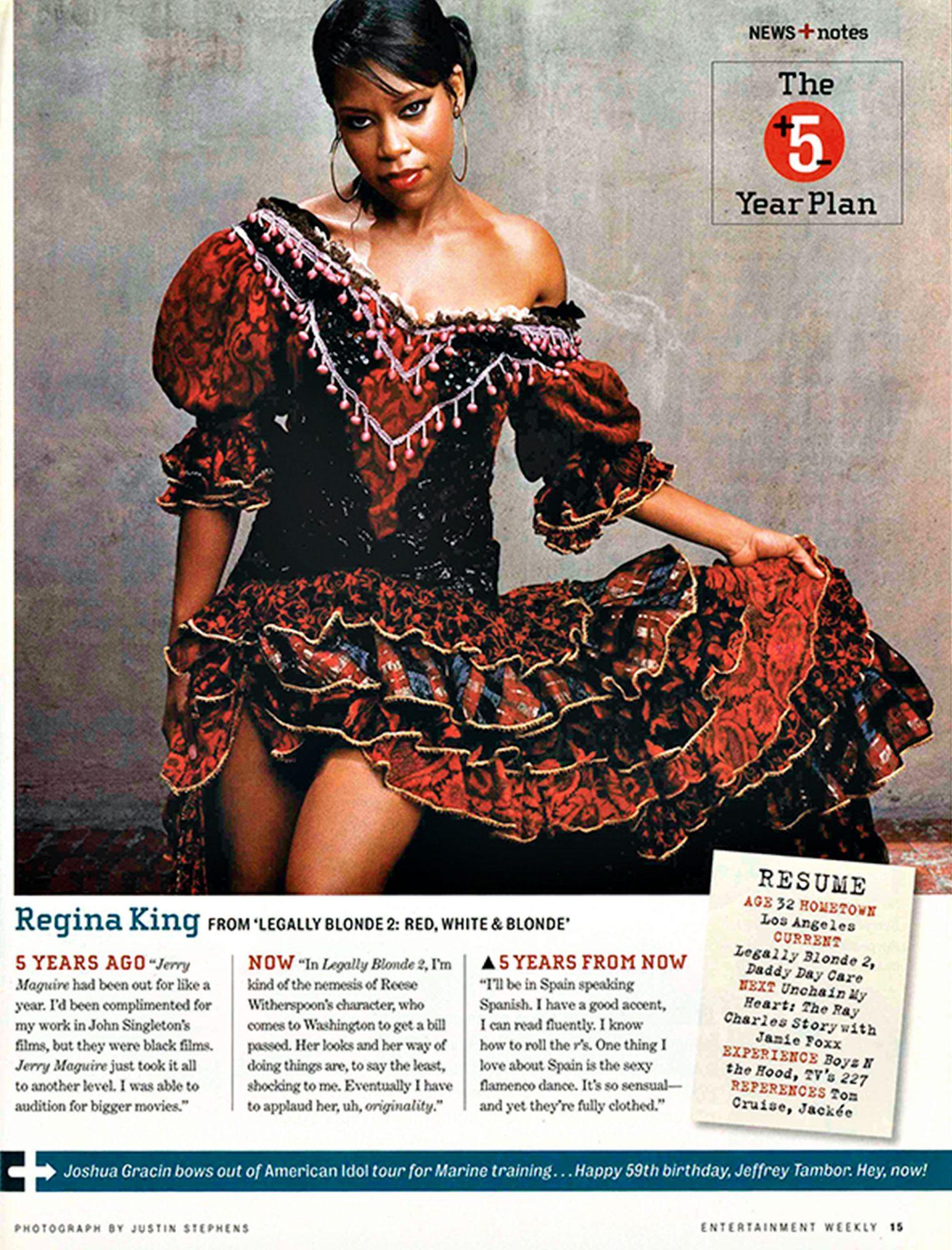 Regina King: My First Time in EW