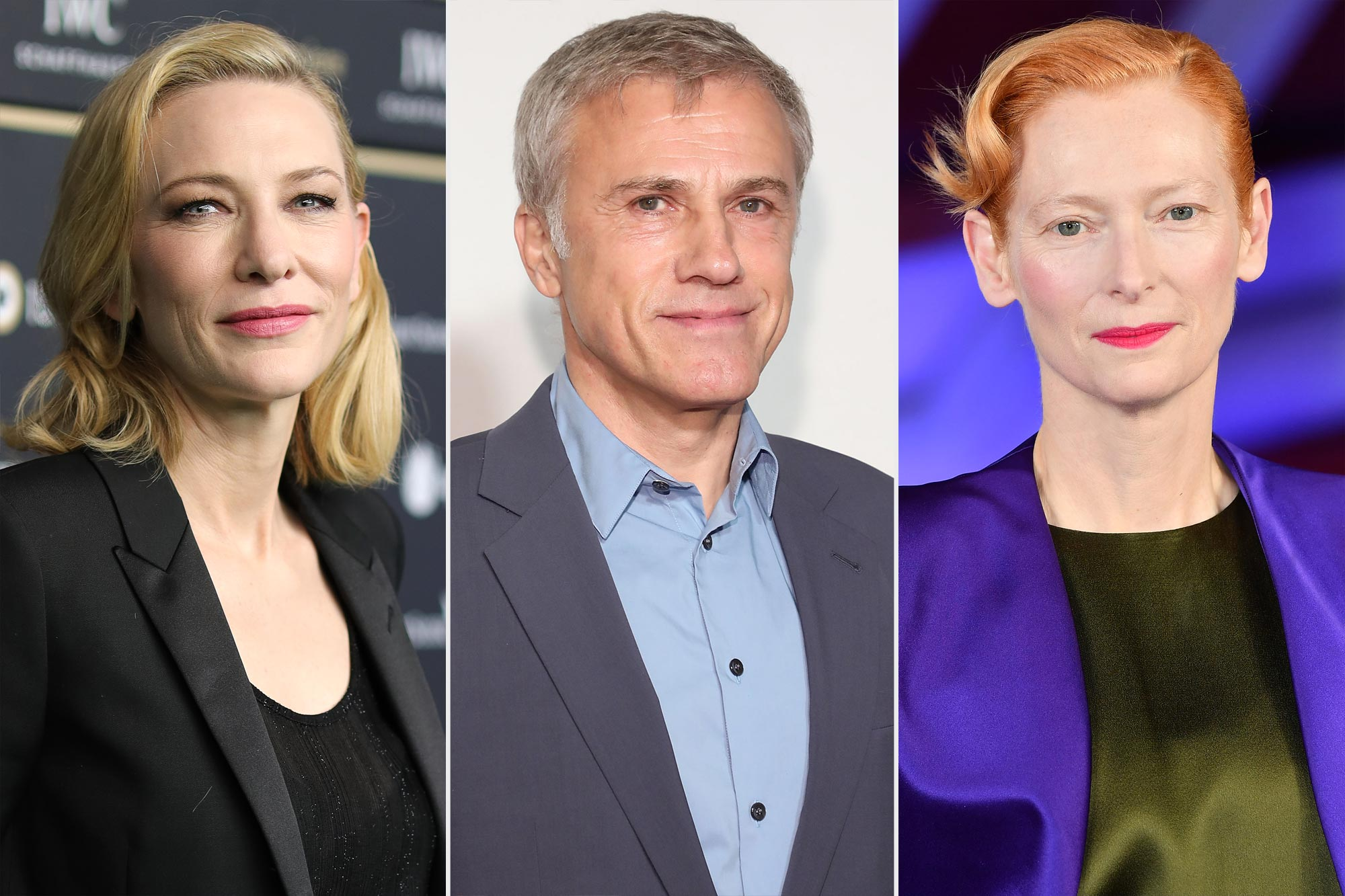 Cate Blanchett, Christoph Waltz, and Tilda Swinton