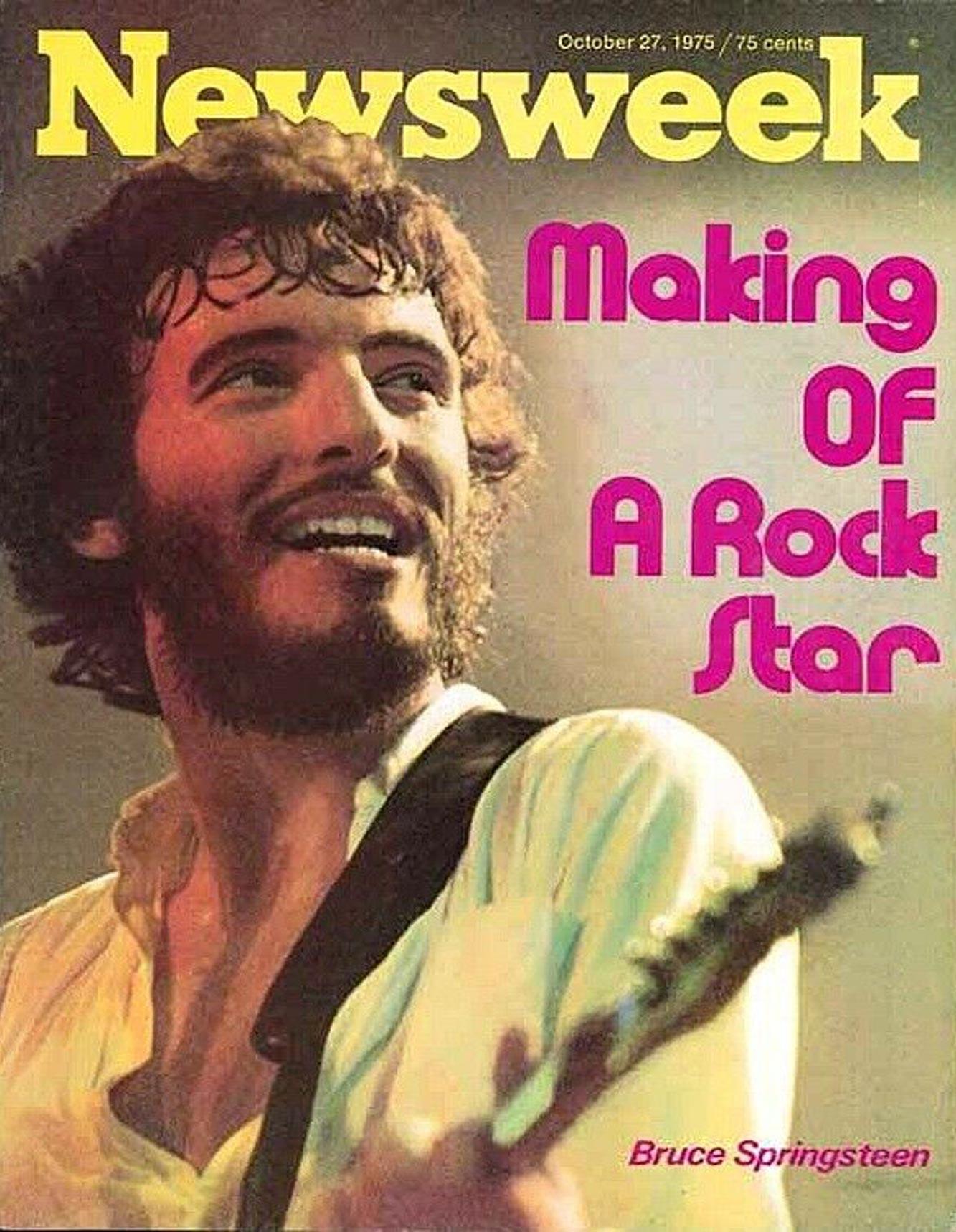 Bruce Springsteen 1975 Newsweek cover