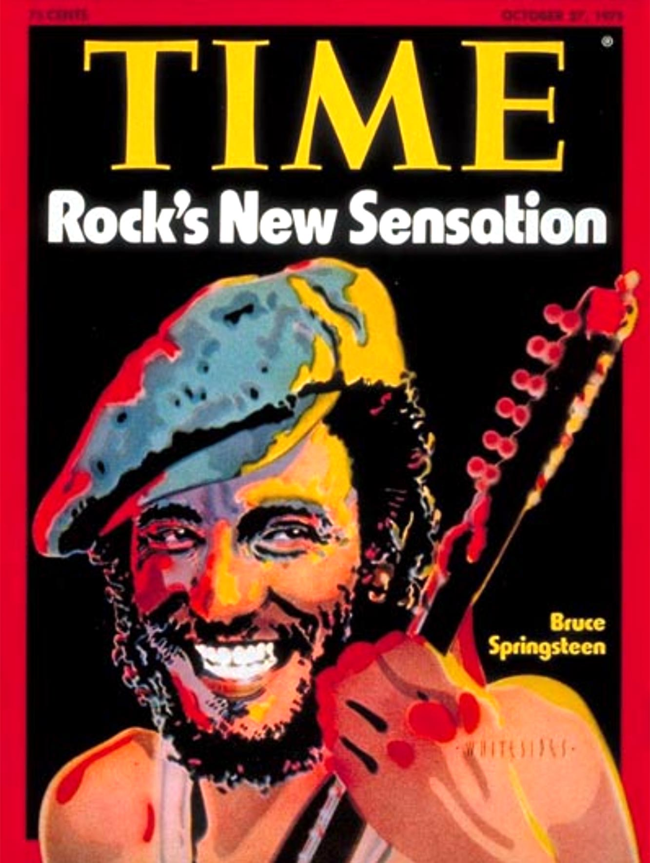 Bruce Springsteen 1975 Time Magazine cover