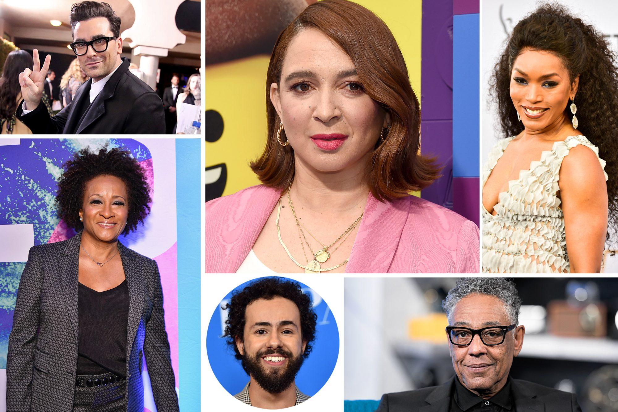 Angela Bassett, Dan Levy, Giancarlo Esposito, Maya Rudolph, Ramy Youssef, and Wanda Sykes