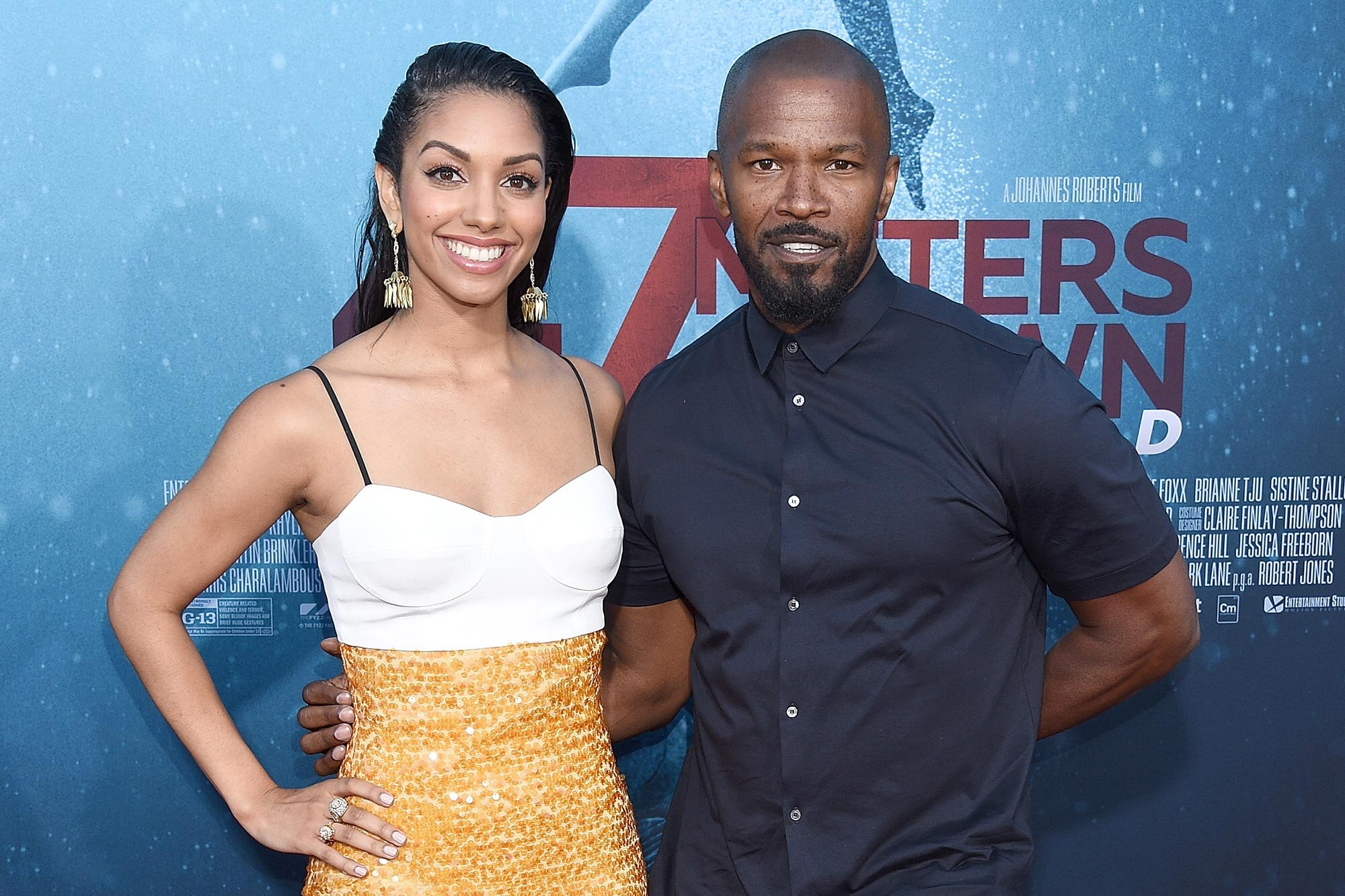 Jamie Foxx and Corinne Foxx