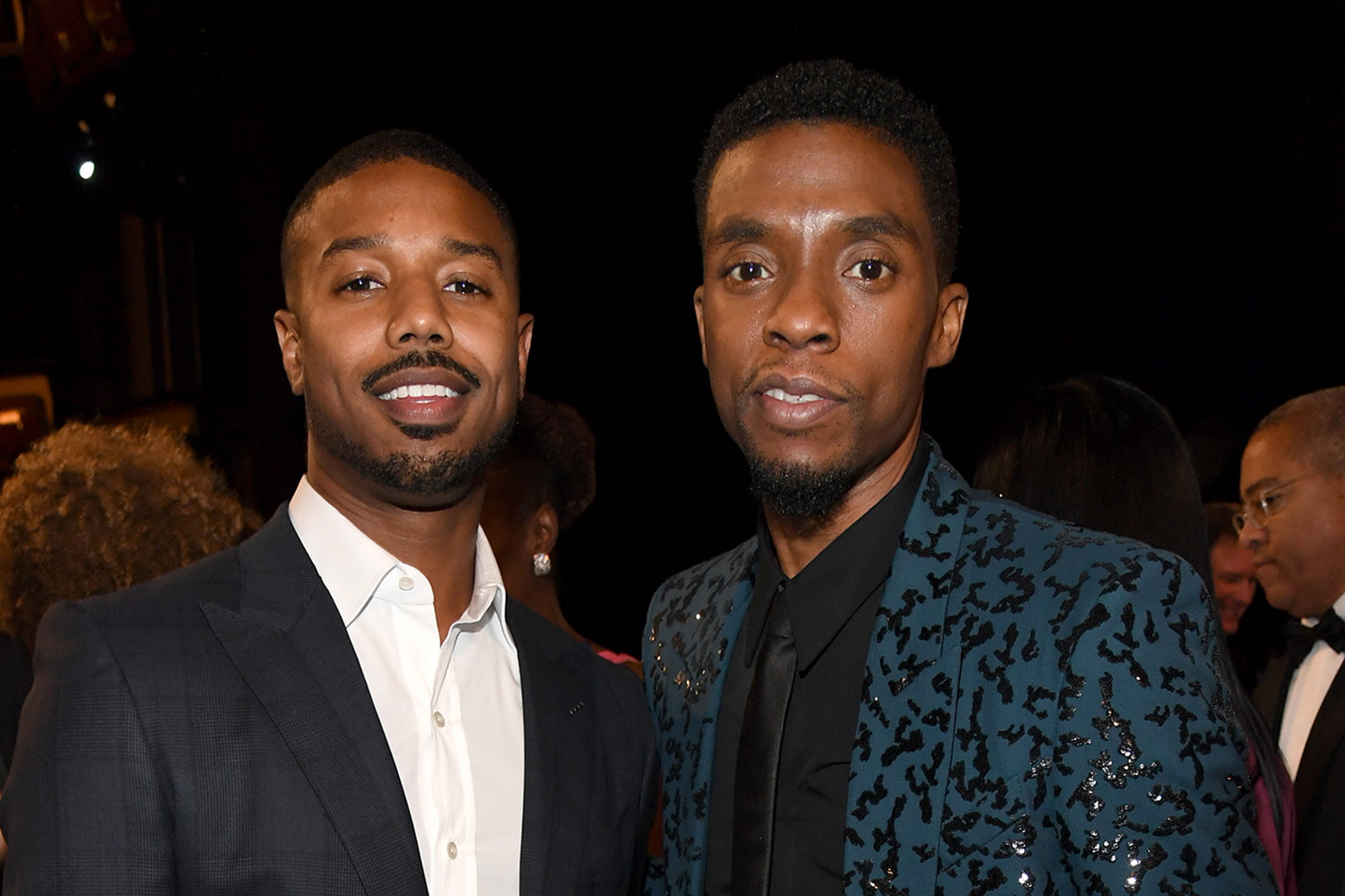 Michael B. Jordan and Chadwick Boseman