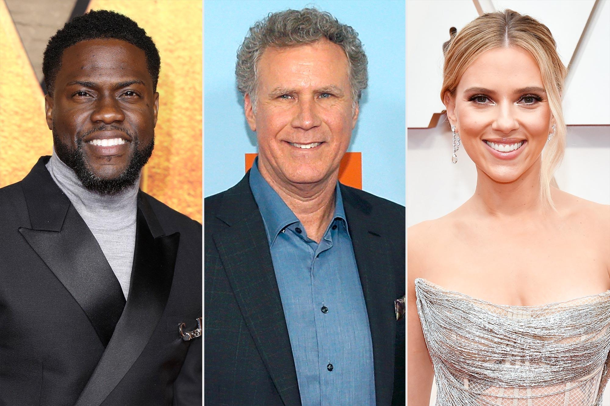 Kevin Hart; Will Ferrell; Scarlett Johansson