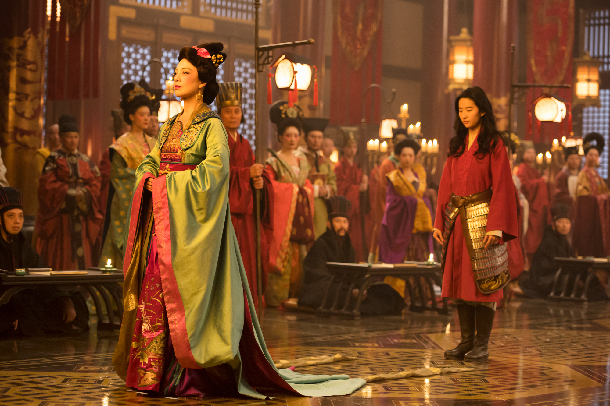 Ming-Na Wen and Yifei Liu in Disney's MULAN