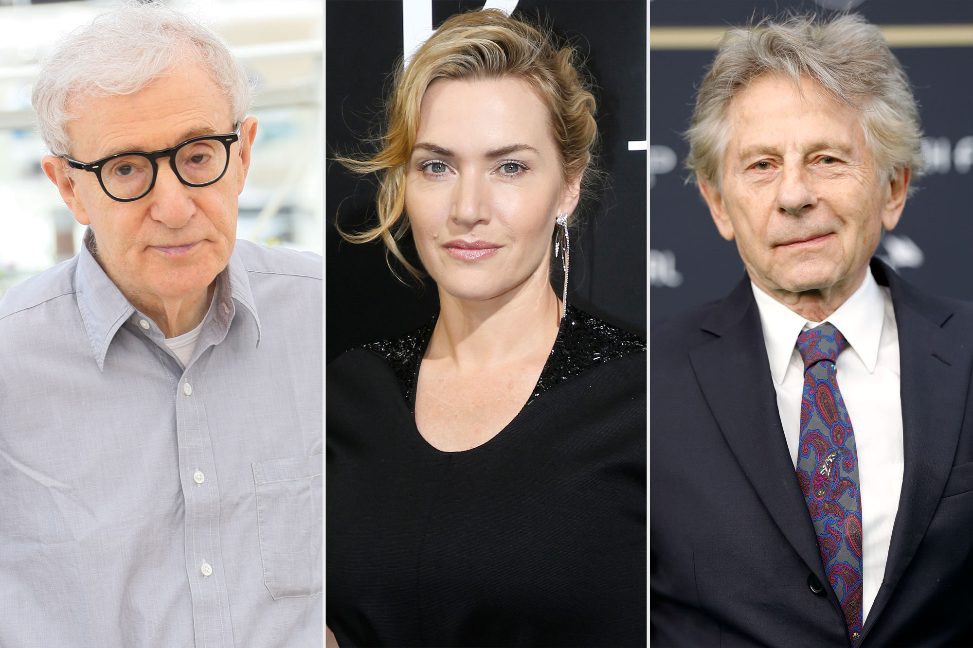 Woody Allen, Kate Winslet, Roman Polanski