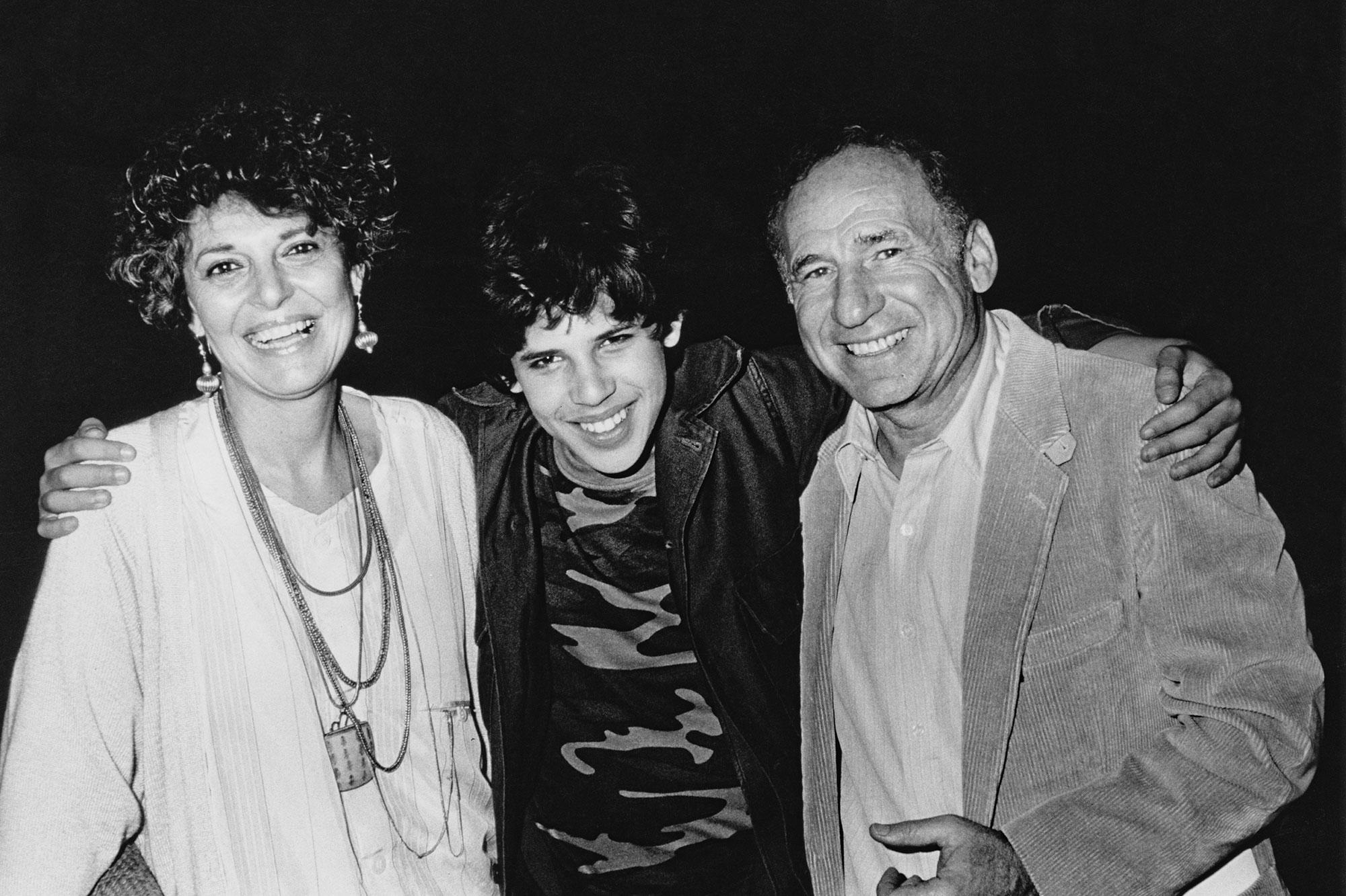 Anne Bancroft, Max Brooks and Mel Brooks