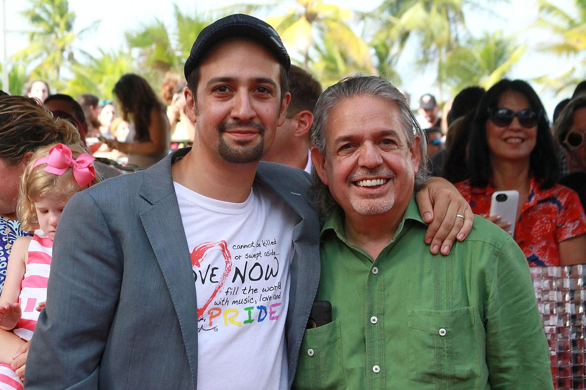 Lin Manuel Miranda and Luis Miranda