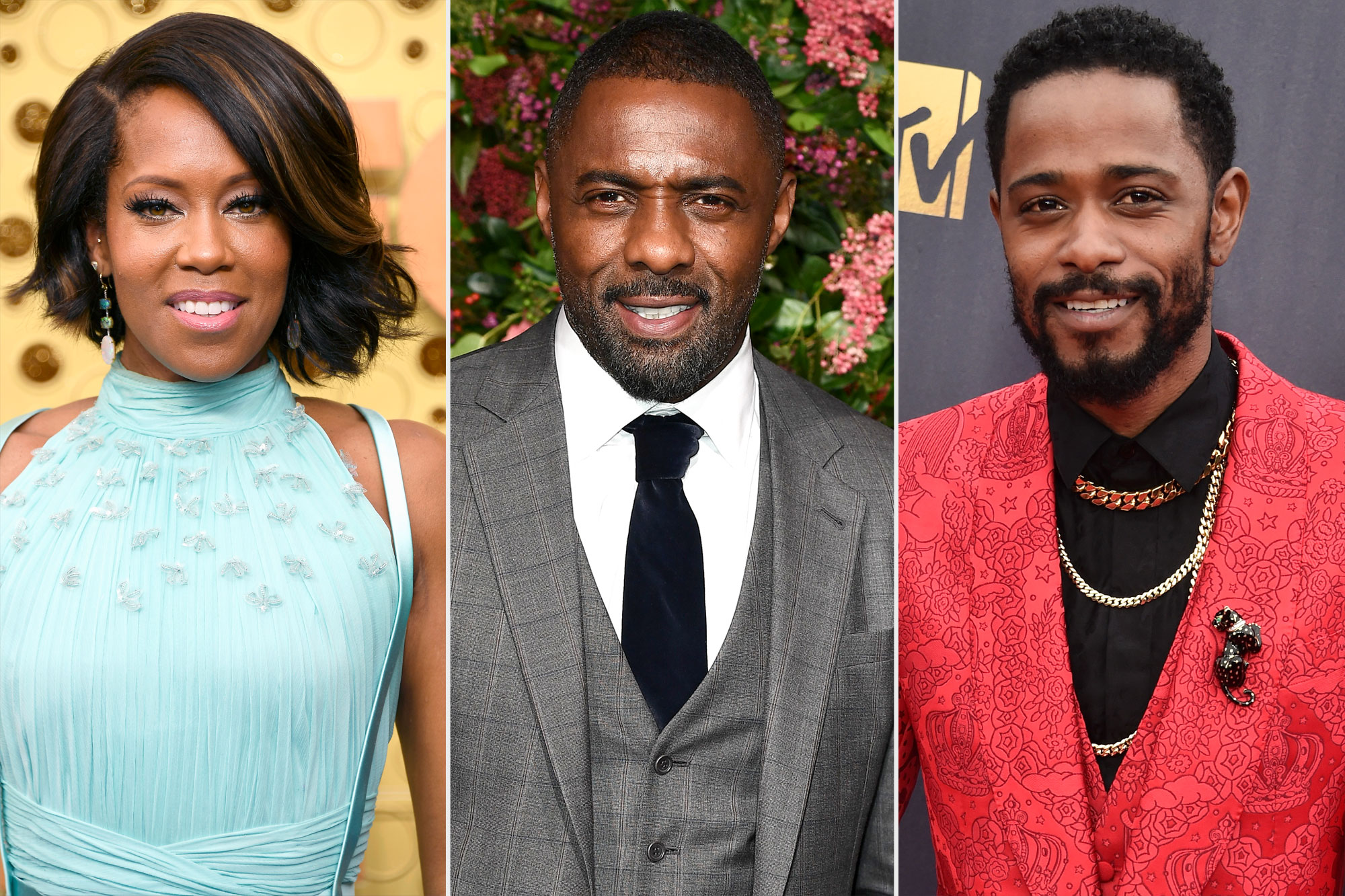 Regina King, Idris Elba, and Lakeith Stanfield