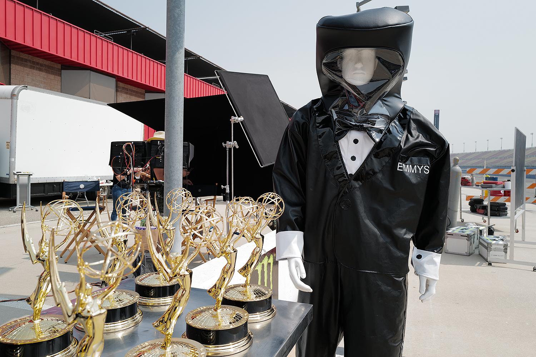 Emmys hazmat tuxedo