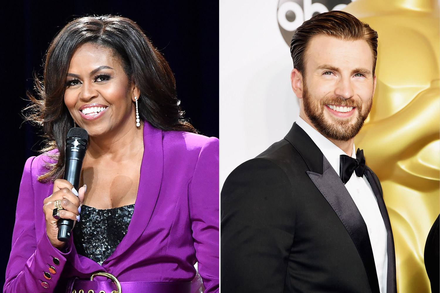 Chris evans, michelle obama