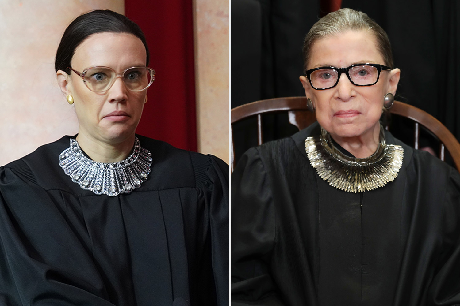 Ruth Bader Ginsburg and Kate McKinnon