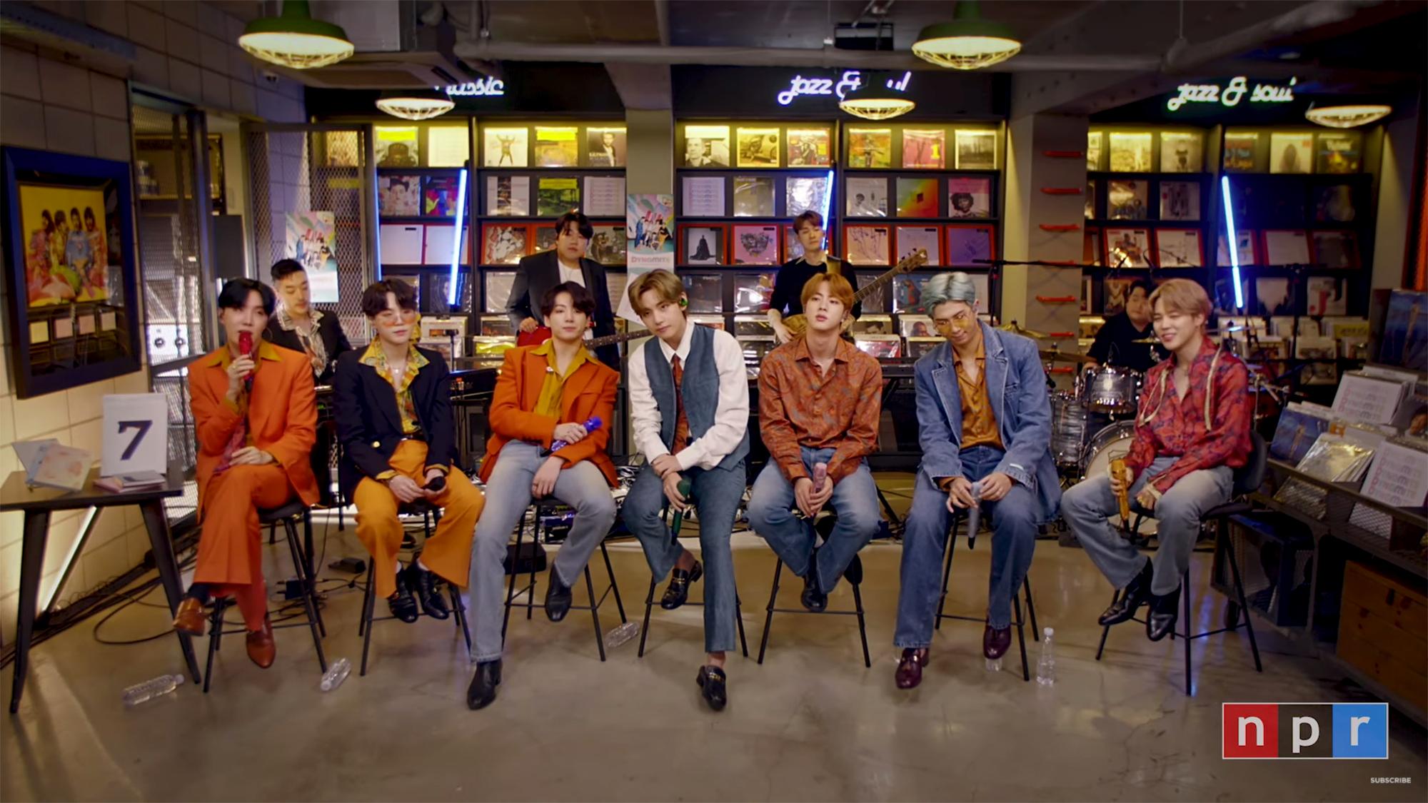 BTS Tiny desk concert