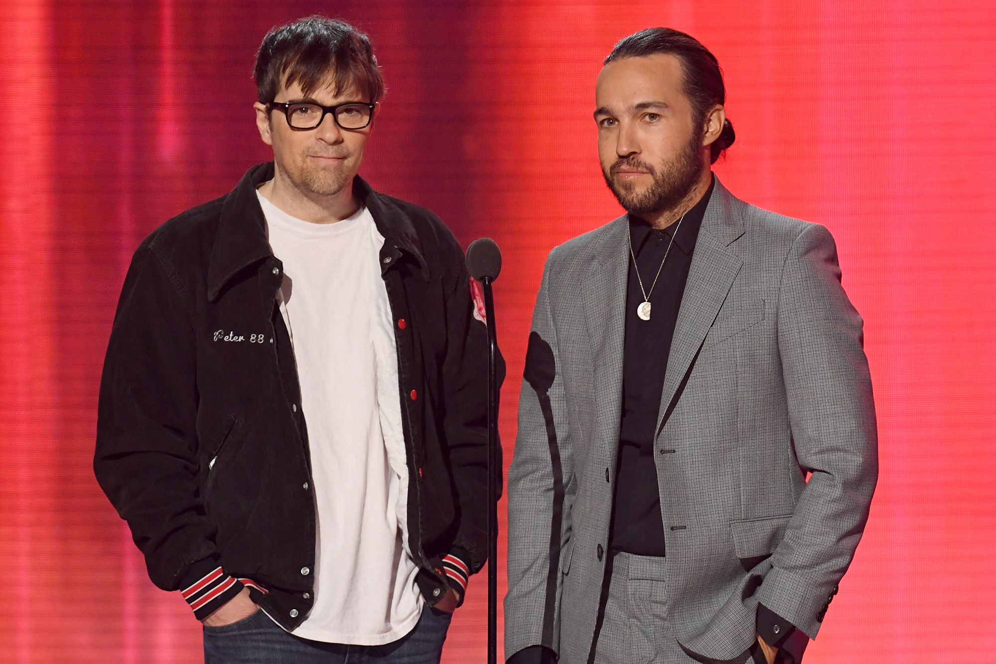 Rivers Cuomo and Pete Wentz