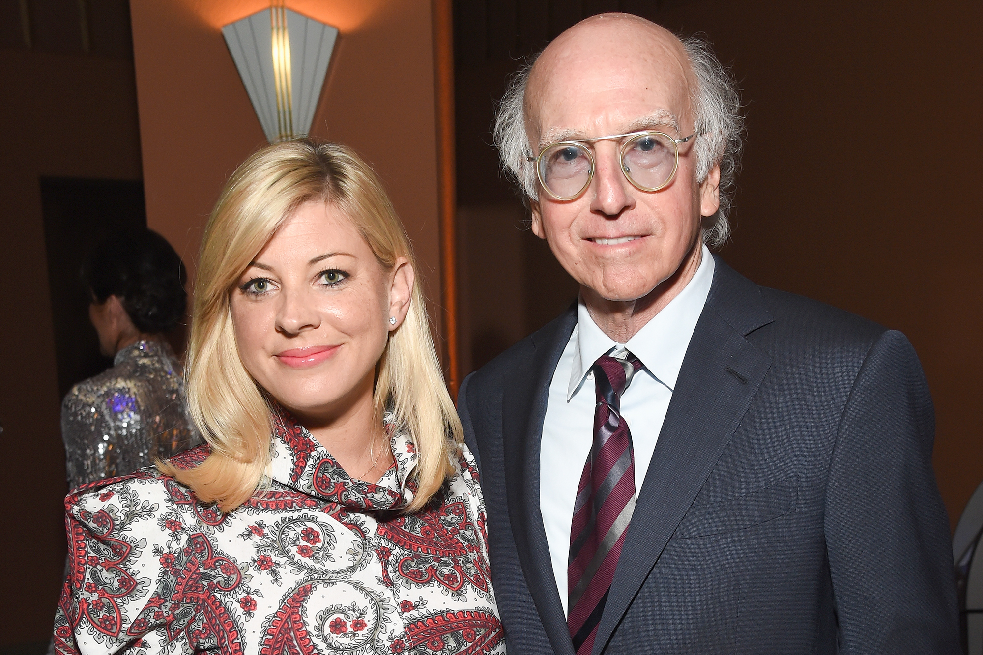 Ashley Underwood and Larry David