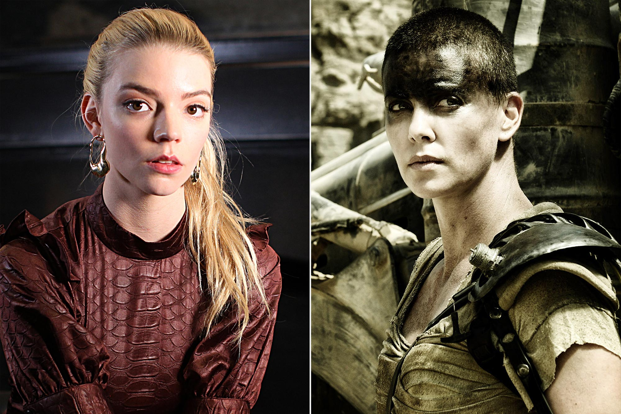 Anya Taylor-Joy and Charlize Theron in Mad Max: Fury Road