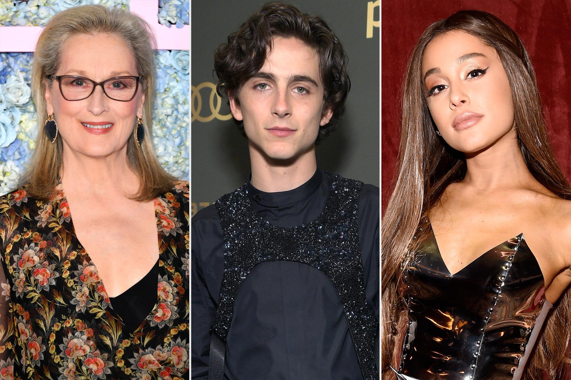 Meryl Streep, Timothee Chalamet, Ariana Grande