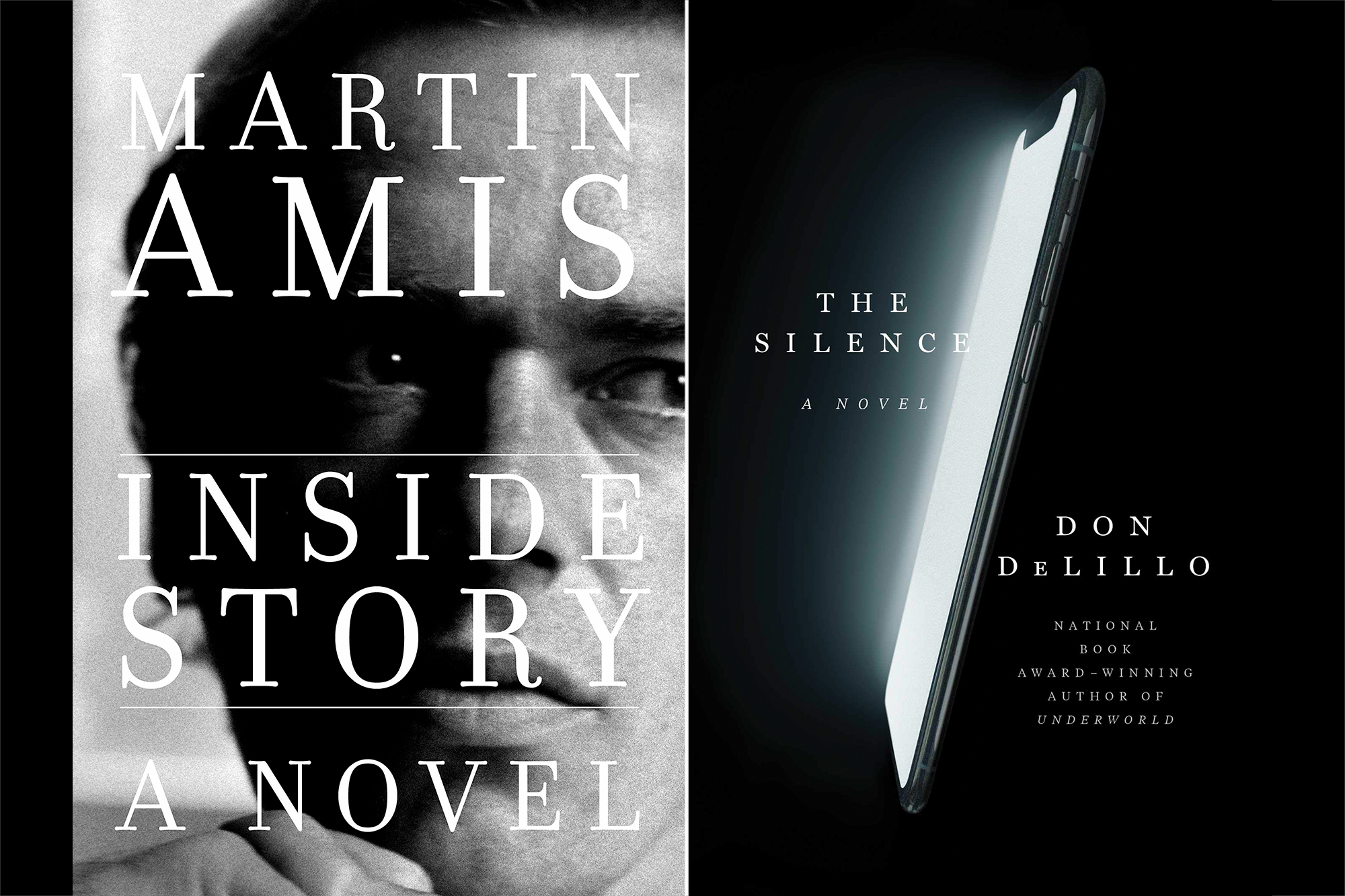 Inside Story by Martin Amis, The Silence by Don DeLillo