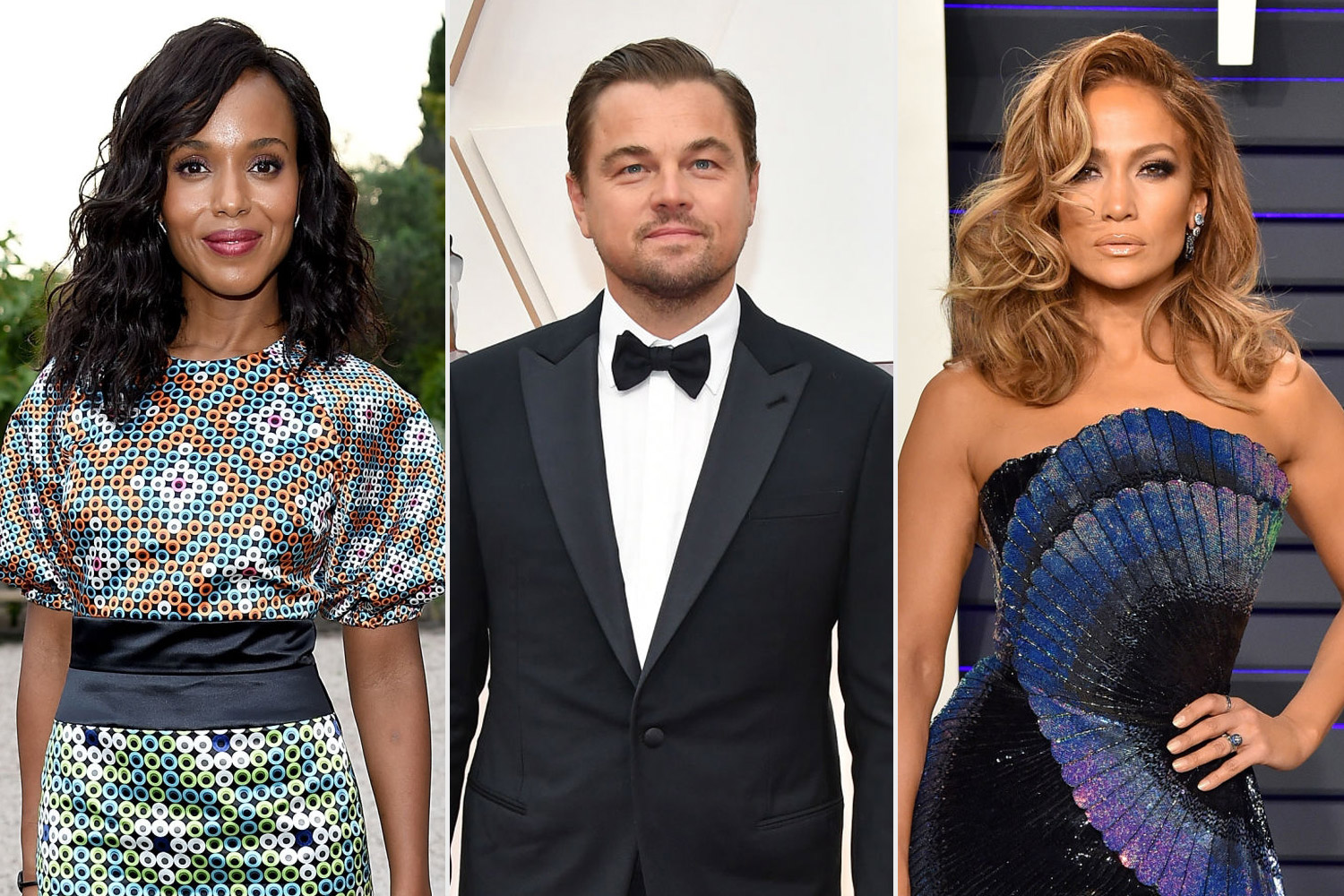 Jennifer Lopez, Leonardo DiCaprio, and Kerry Washington