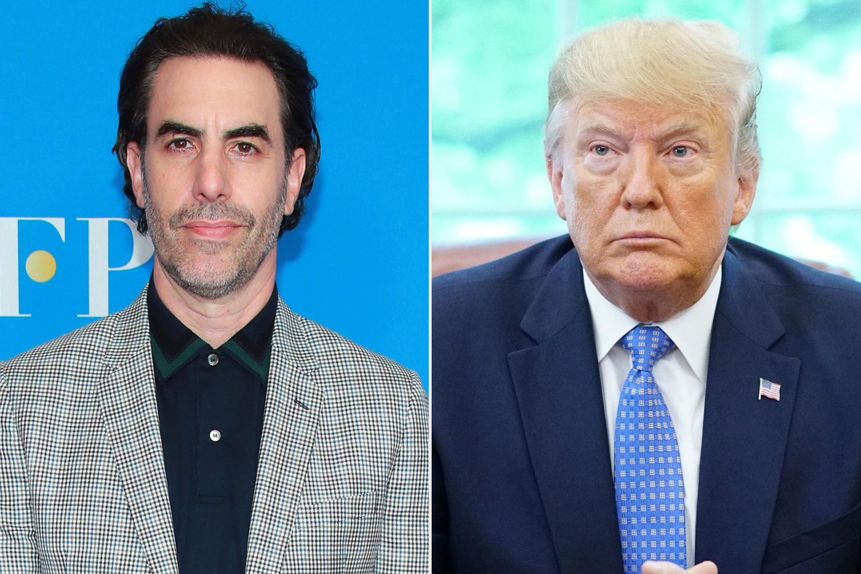 Sacha Baron Cohen, Donald Trump