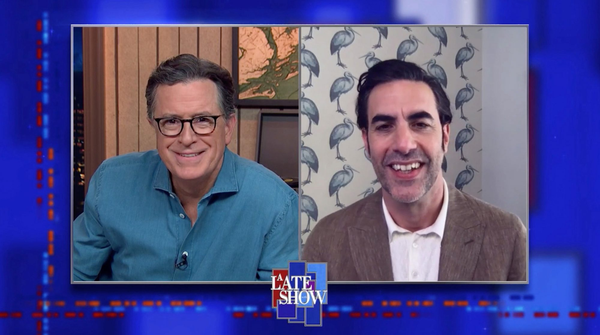 The Late Show with Stephen Colbert, Sacha Baron Cohen