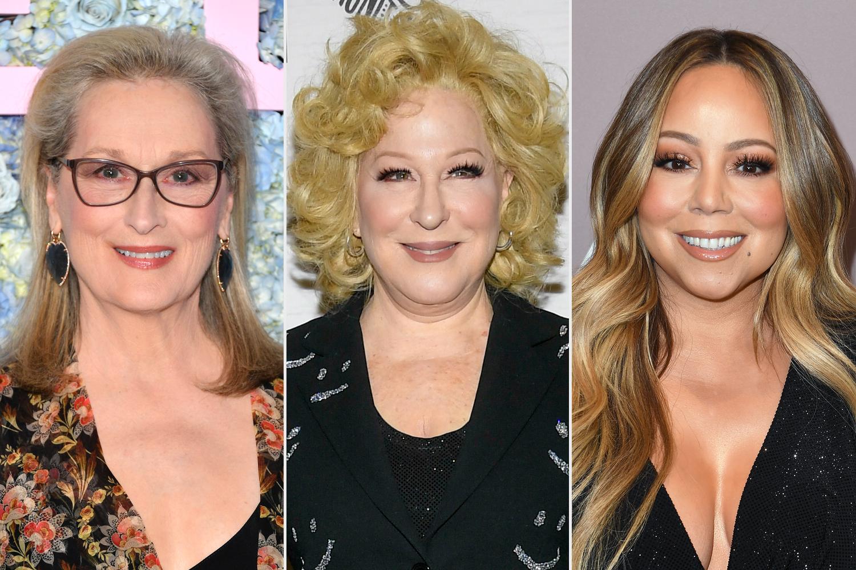 Meryl Streep, Bette Midler, Mariah Carey