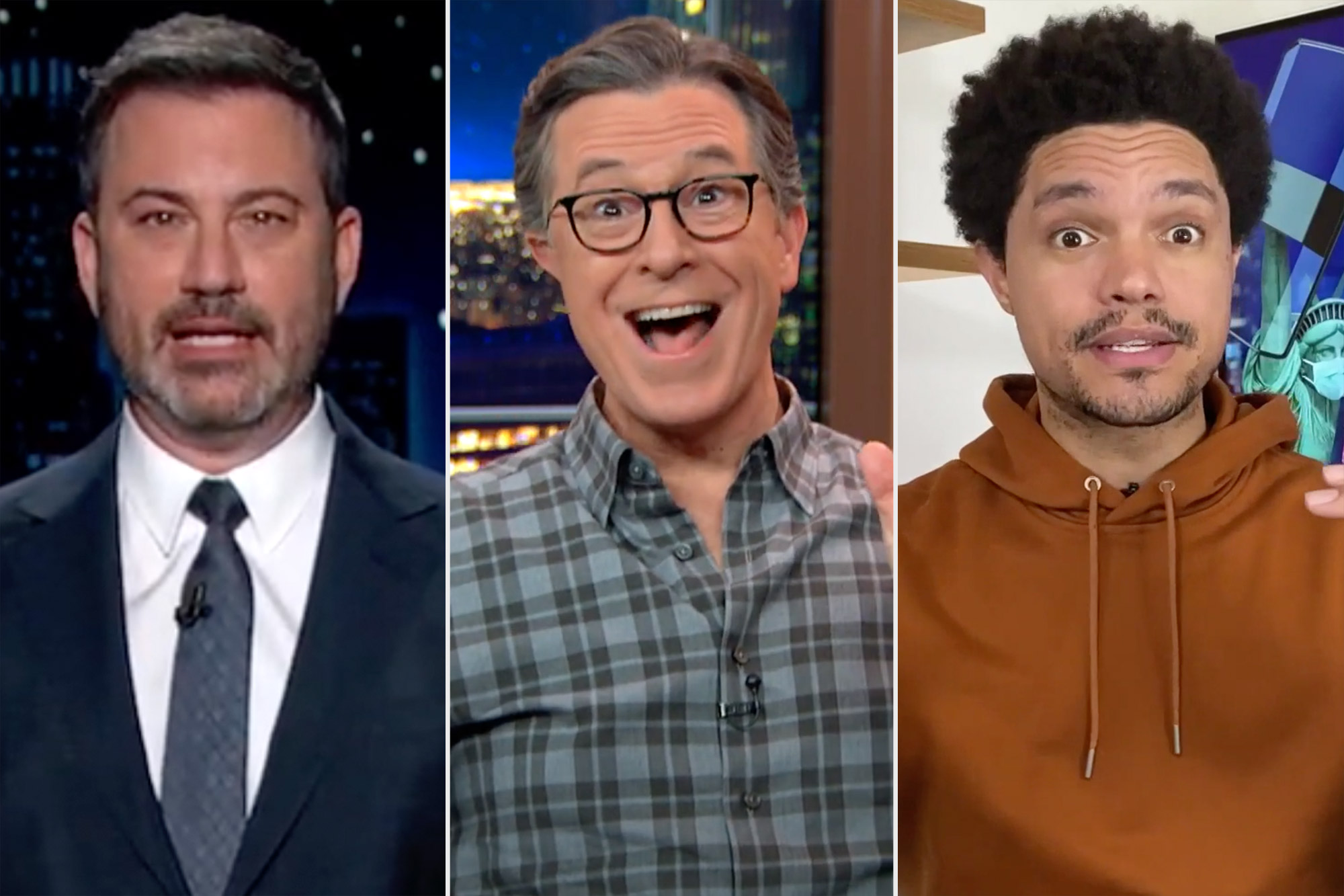 Late night hosts react to the election
