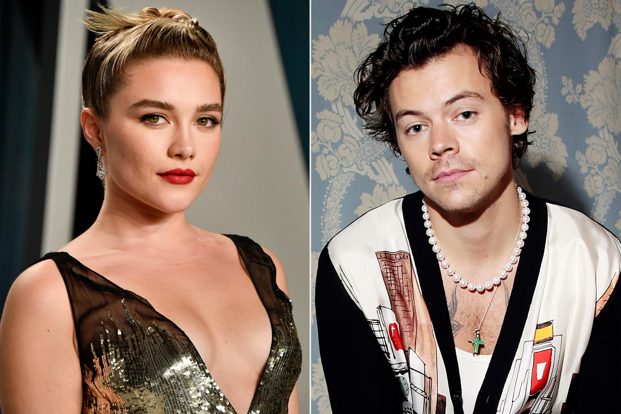 Florence Pugh and Harry Styles