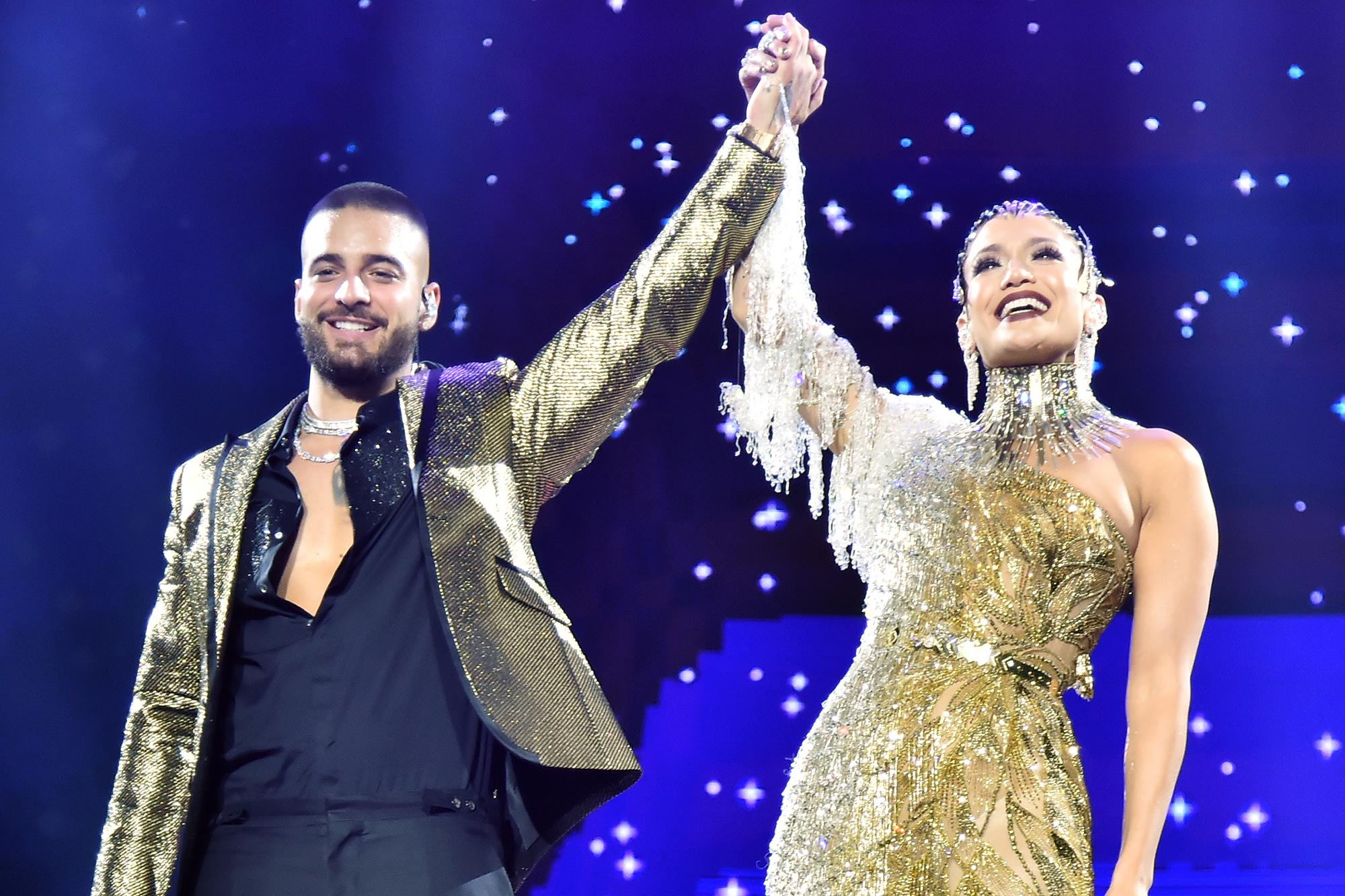 Maluma and Jennifer Lopez