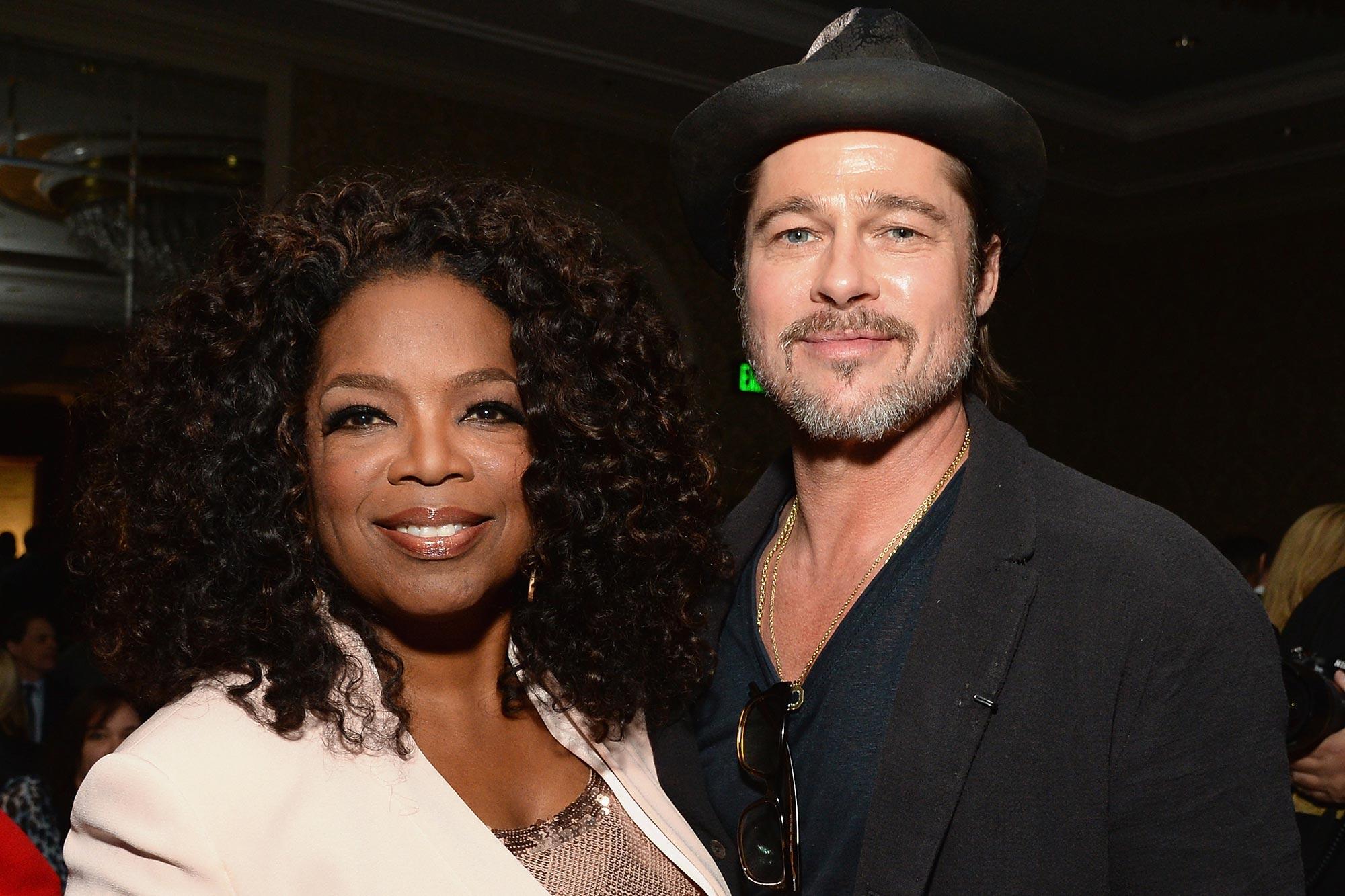 Oprah Winfrey and Brad Pitt