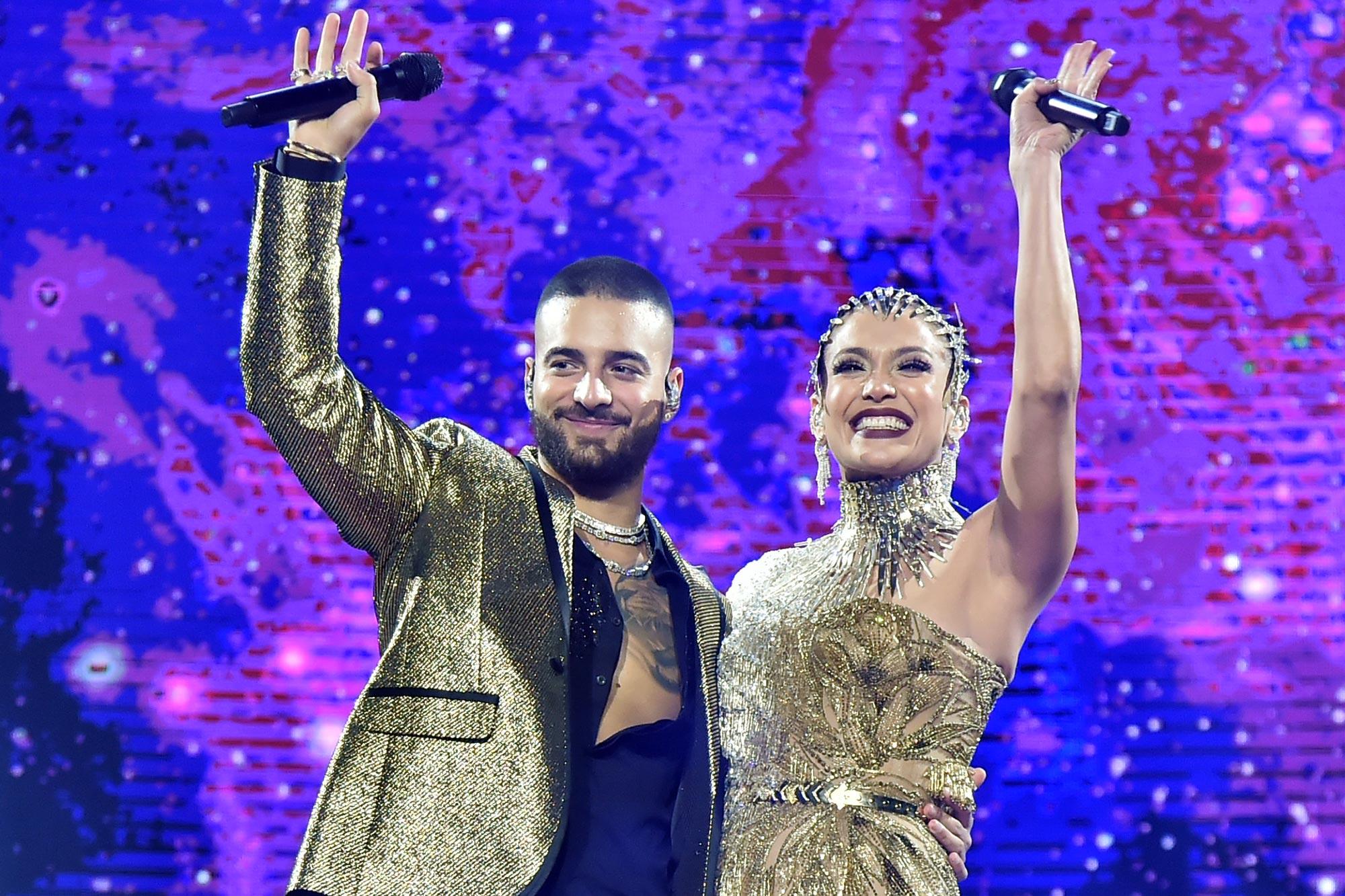 Maluma and Jennifer Lopez