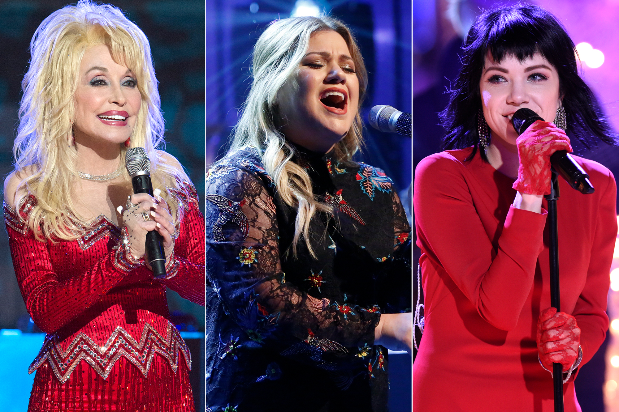 Dolly Parton, Kelly Clarkson, Carly Rae Jepsen
