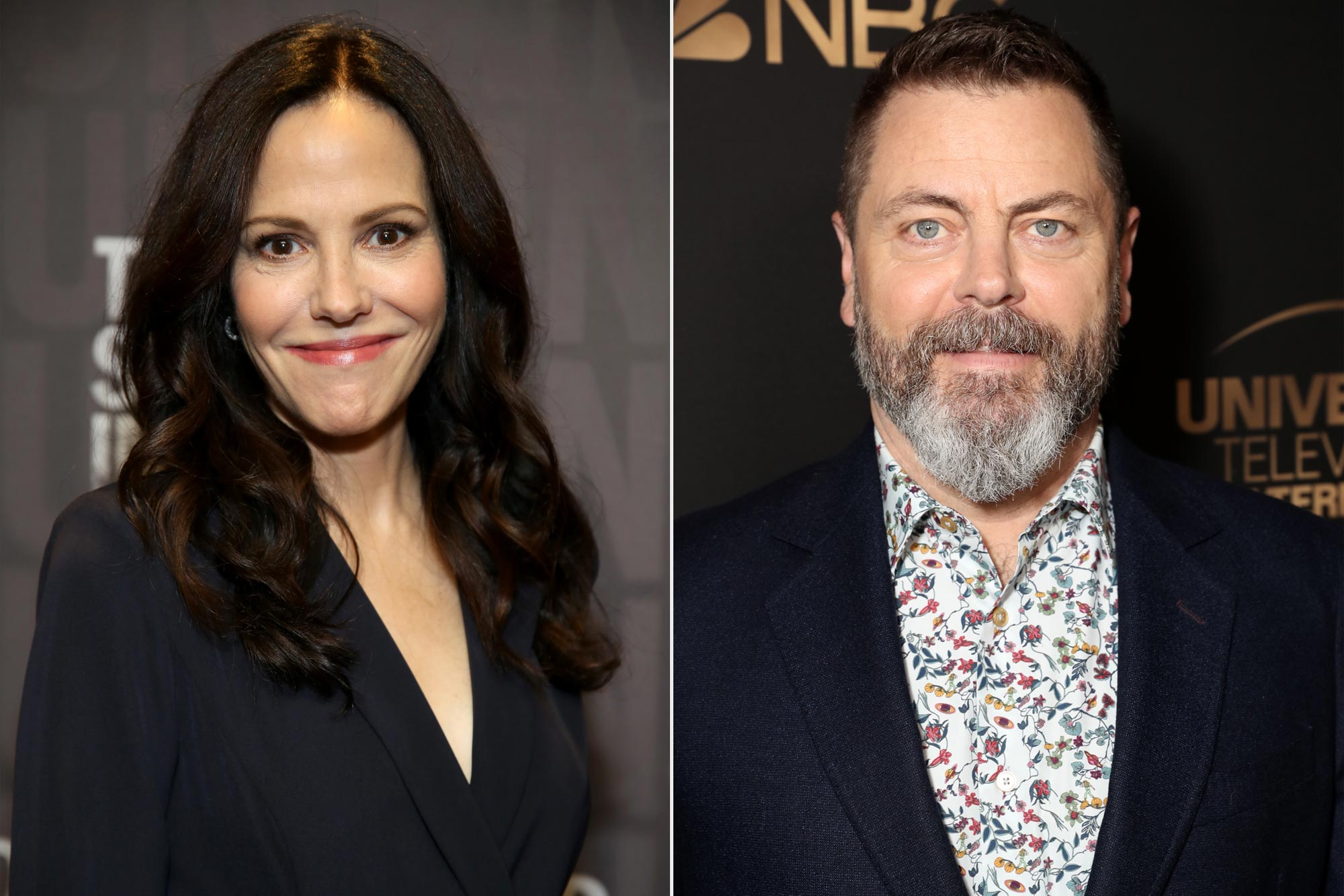 Mary-Louise Parker and Nick Offerman