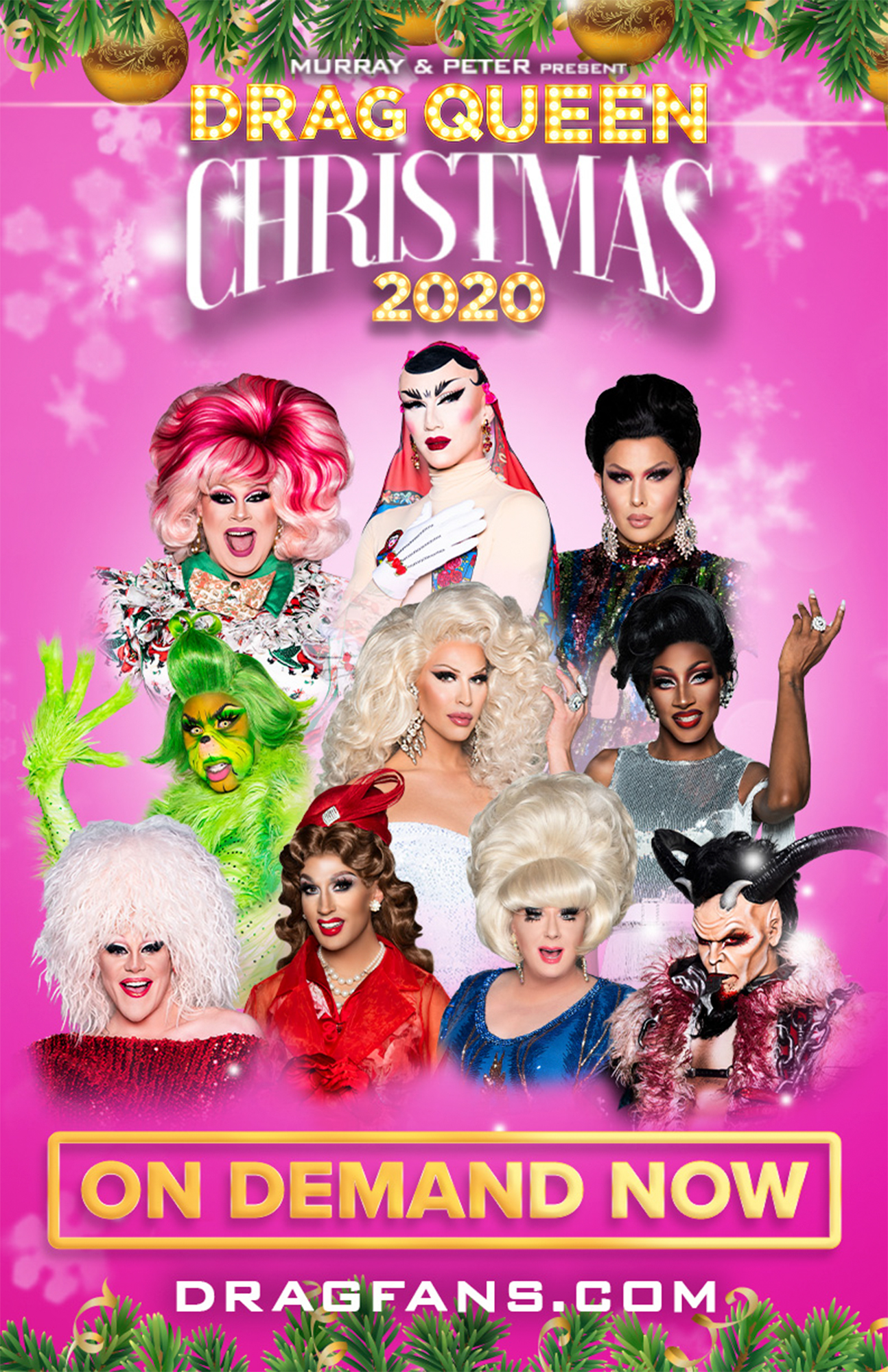 A Drag Queen Christmas 2021 Cast Drag Queen Christmas Shea Coulee Sasha Velour In Holiday Special Ew Com