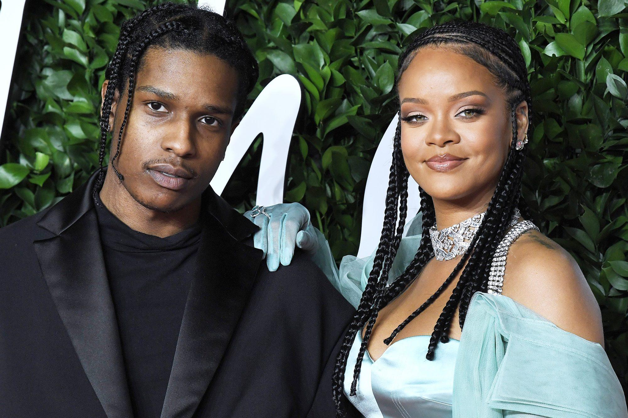 ASAP Rocky and Rihanna