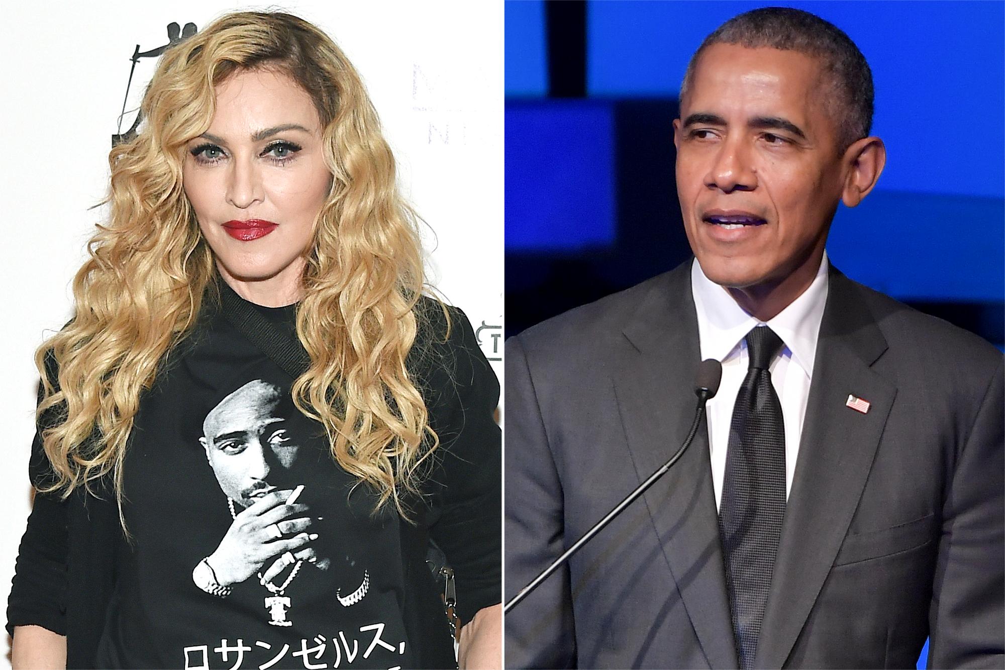 Madonna, Barack Obama