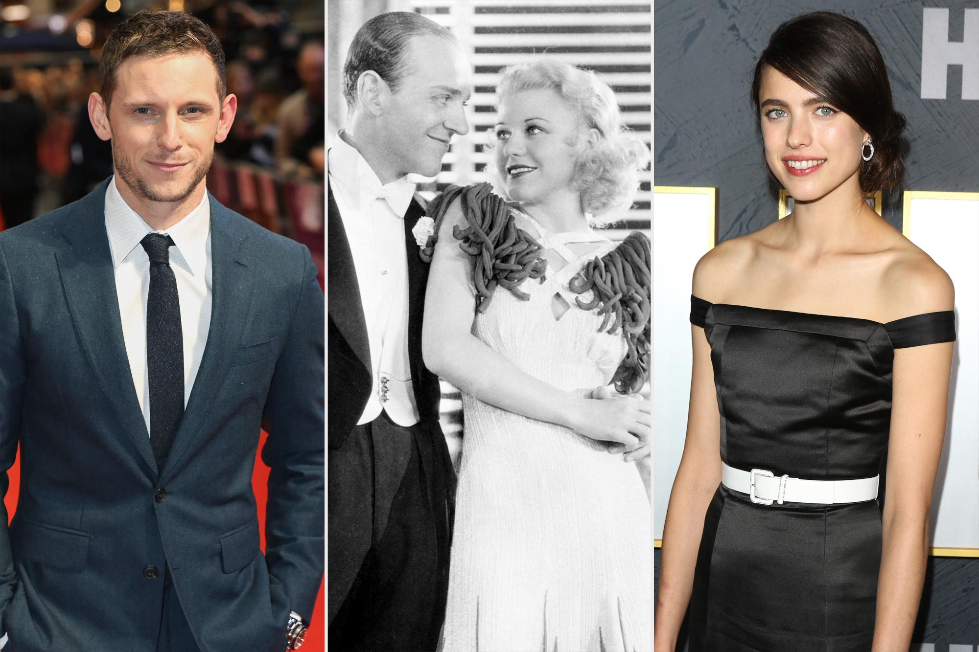 Jamie Bell, Fred Astaire, Margaret Qualley and Ginger Rogers