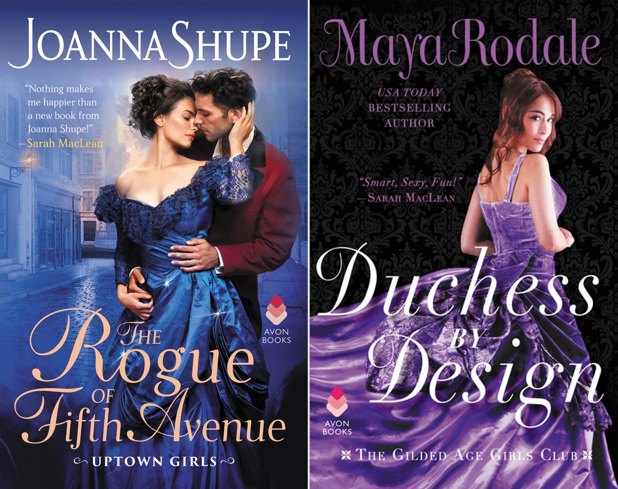 Joanna Shupe's The Rogue of Fifth Avenue and Maya Rodale's Duchess by Design