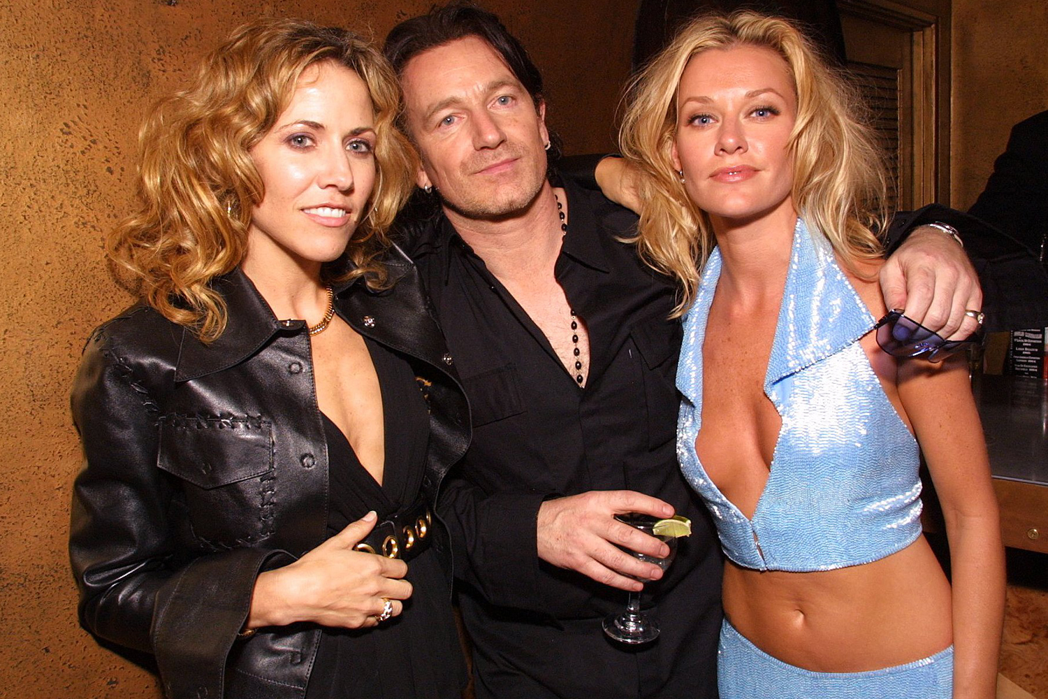 Sheryl Crow, Bono and Shelby Lynne during The 43rd Annual GRAMMY Awards